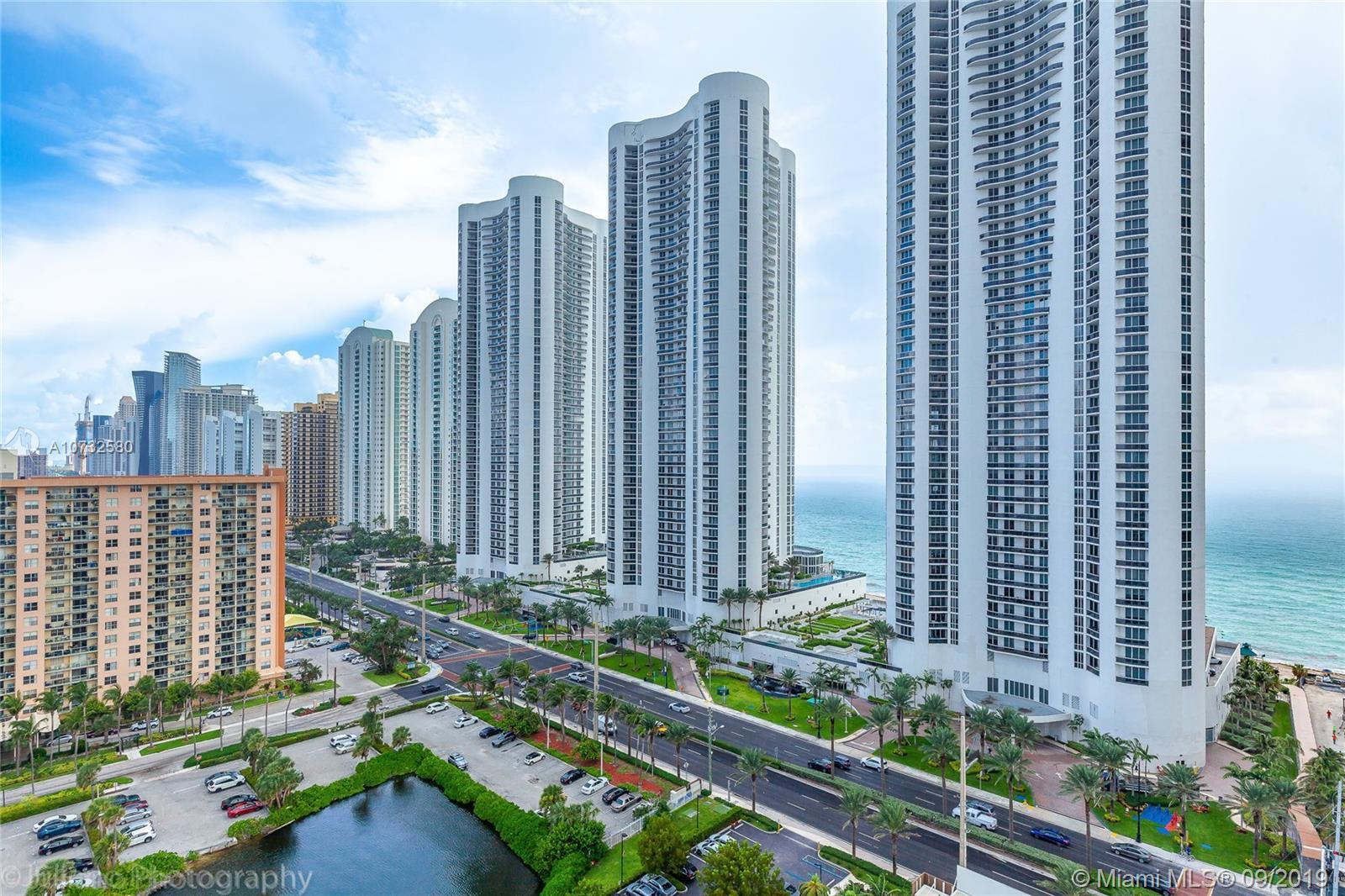 Exquisite condo with magnificent ocean and city views. This is a corner large floor plan with many c