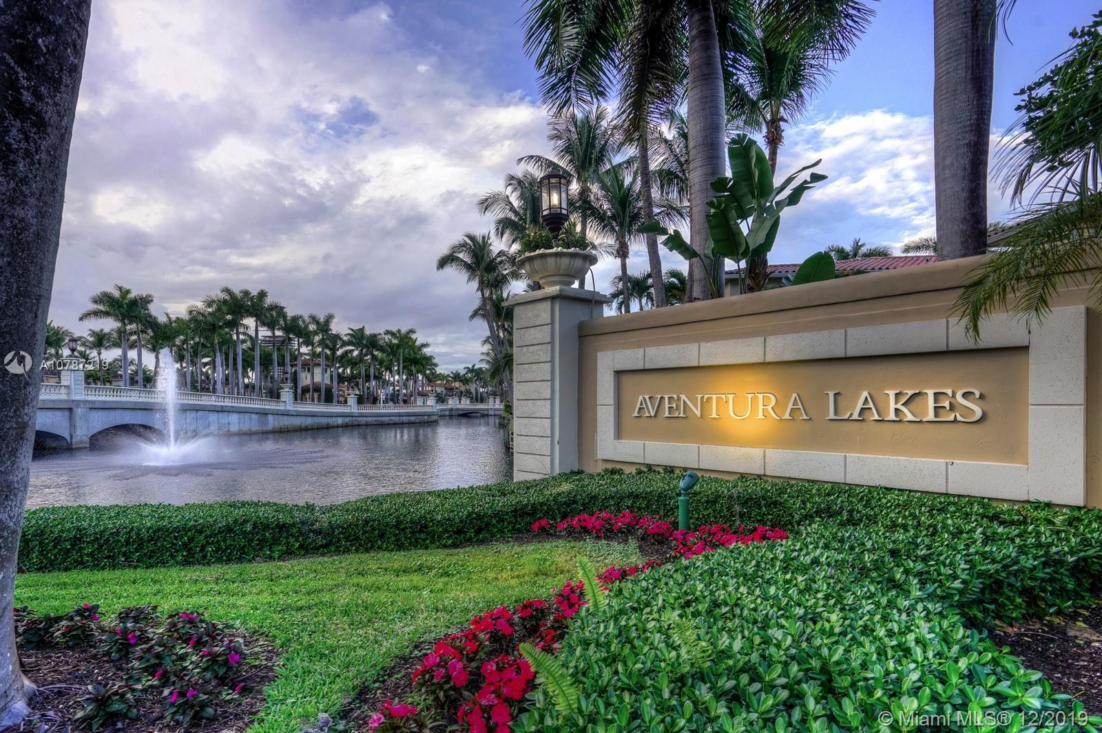 Aventura Lakes gated community located in the heart of Aventura, Fl Lakefront Gem, one of largest h