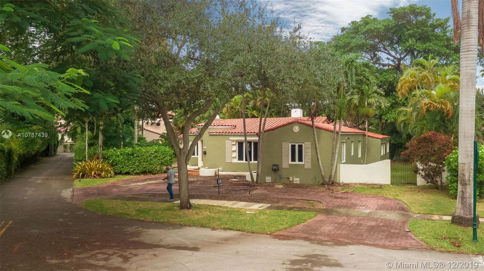 EAST OF US-1 ON A VERY QUIET STREET IN MIAMI SHORES.  THIS HOME HAS BEEN GUTTED AND IS READY FOR YOU