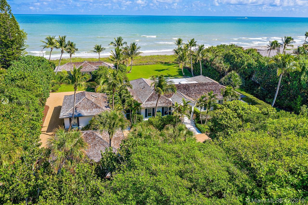 This fabulous 1.53 acre oceanfront property with a high elevation sits directly on 200' of prime Jup