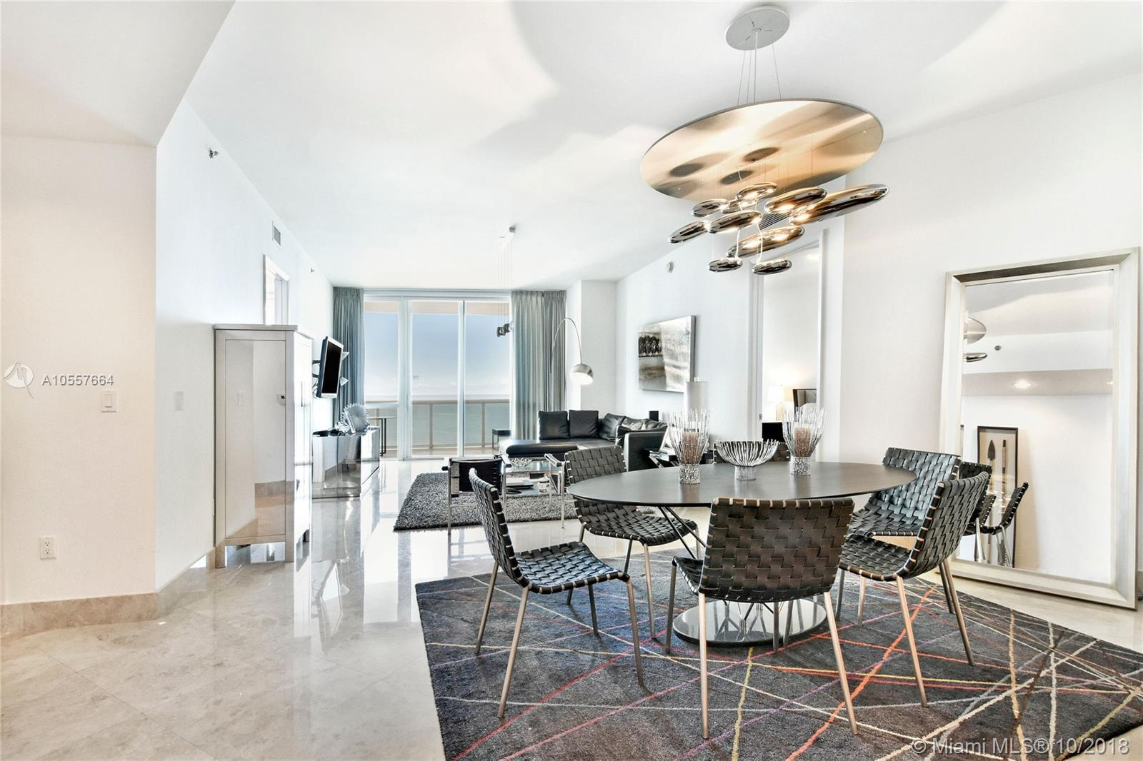 Incredible direct ocean views from the 17th floor of the luxurious oceanfront development in Sunny I