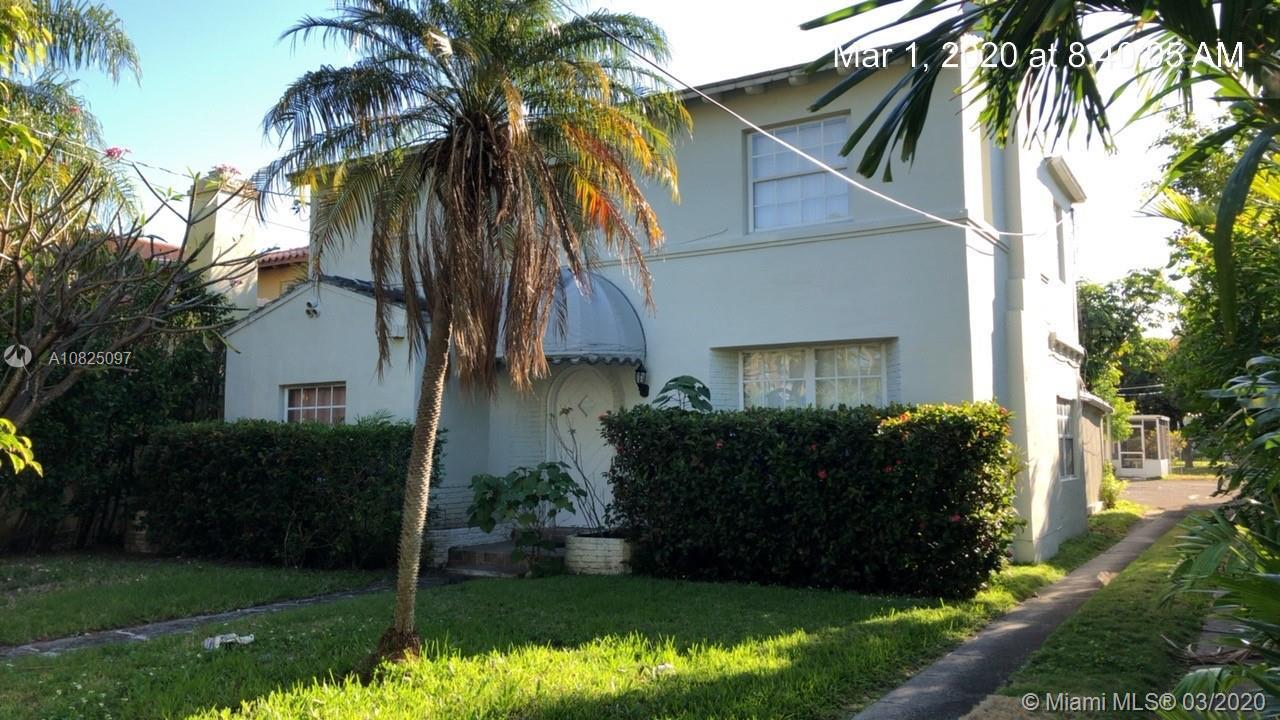 Highly sought out home in Miami Beach near worship centers and 41 st. Currently zoned as multi family. the main house is 2142 sq ft plus an additional 1500 sq ft in rear unit 1/1 plus a 2/1 currently rented month to month.  Estate Sale