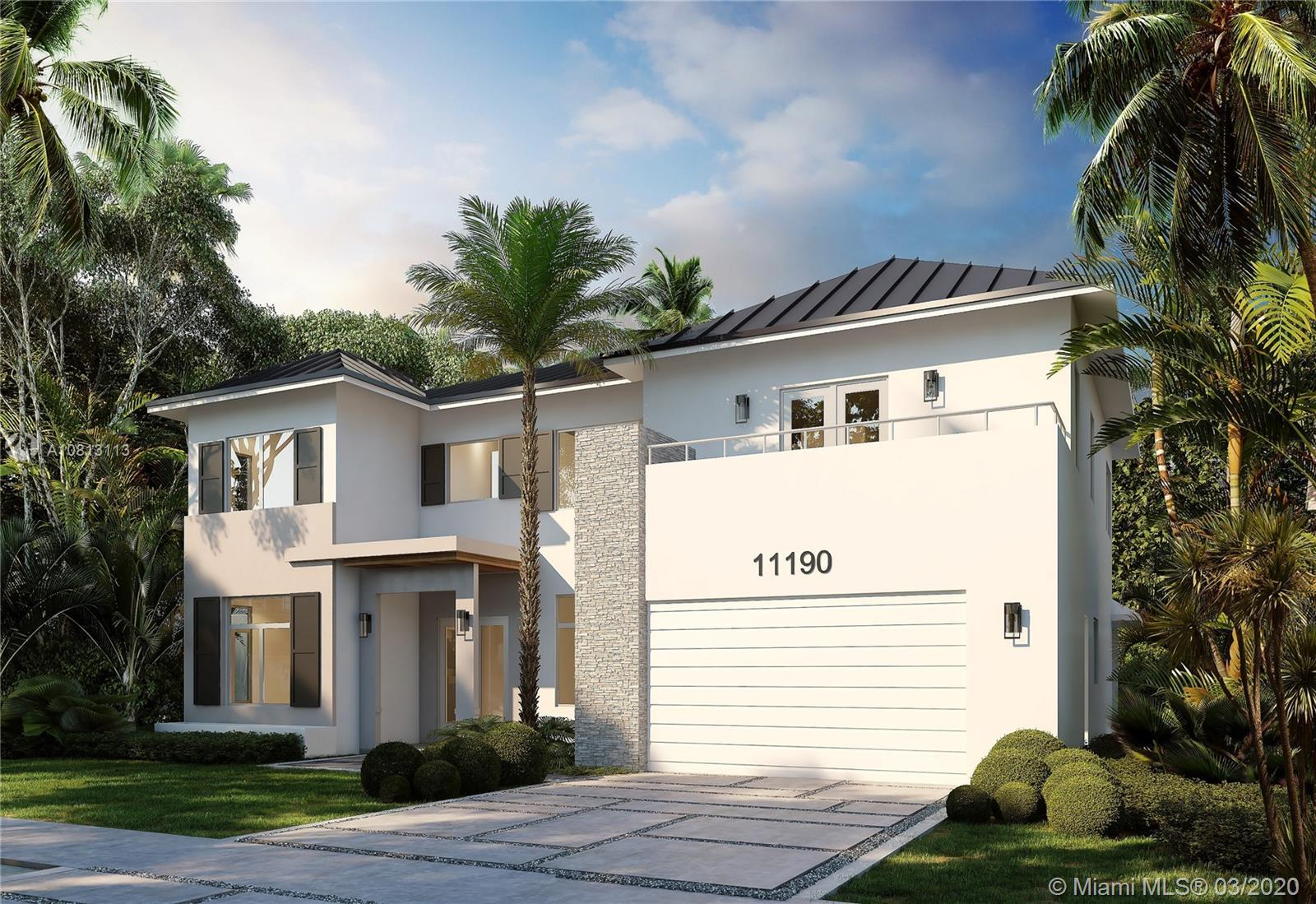 New Construction One of TWO HOMES in Pinecrest. This incredible 2 Story Residence, smart home ready