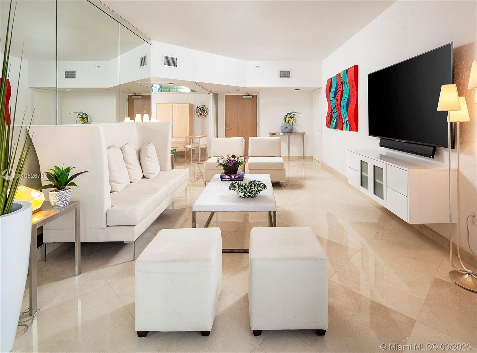 Magnificent Oceania Penthouse now available for sale. Large 1 bedroom floor plan plus a private Den
