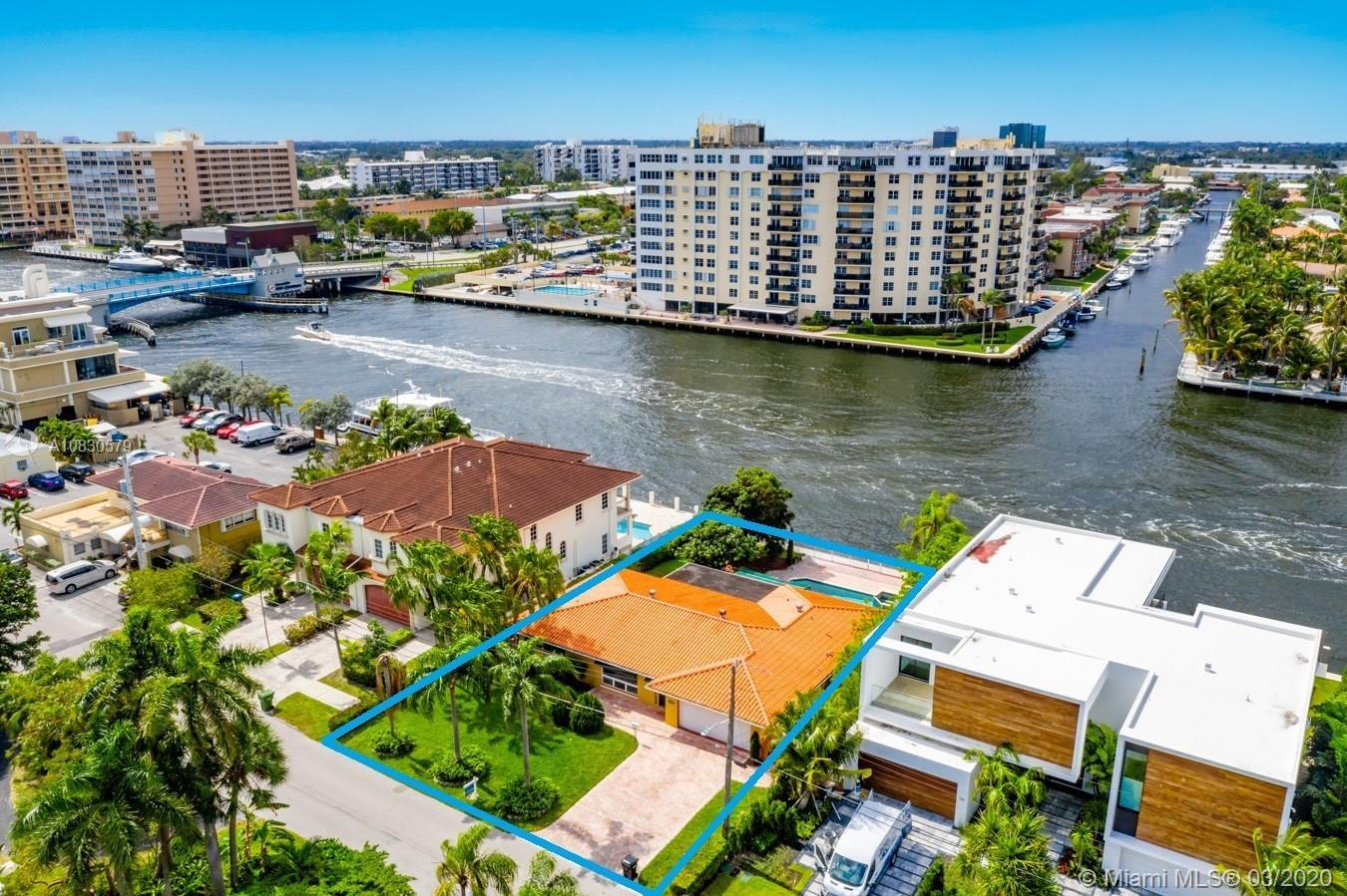 PRICED TO SELL FAST! | DIRECT INTRACOASTAL HOME IN THE SILVER SHORES SECTION PART OF TOWN IN LAUDERD