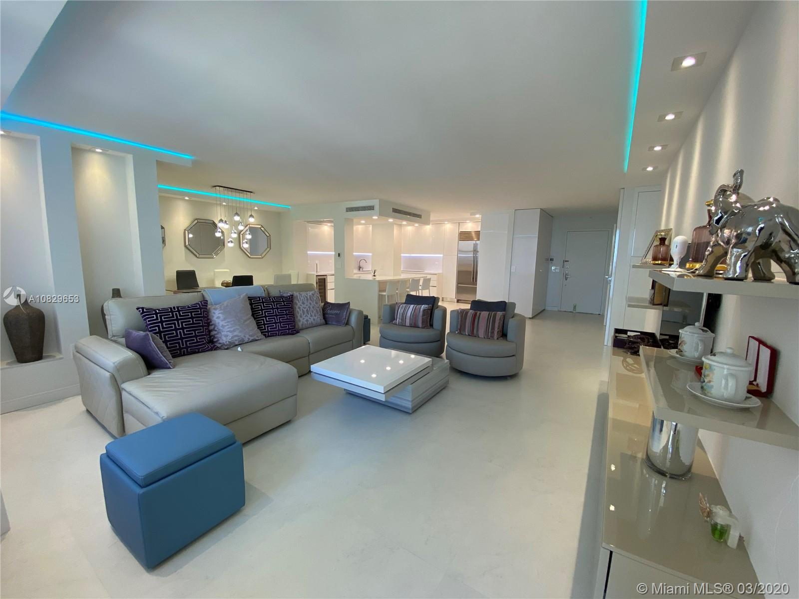 Beautiful and modern newly remodeled  2 bedrooms 2.5 bath unit located in Balmoral at Bal Harbor. Th