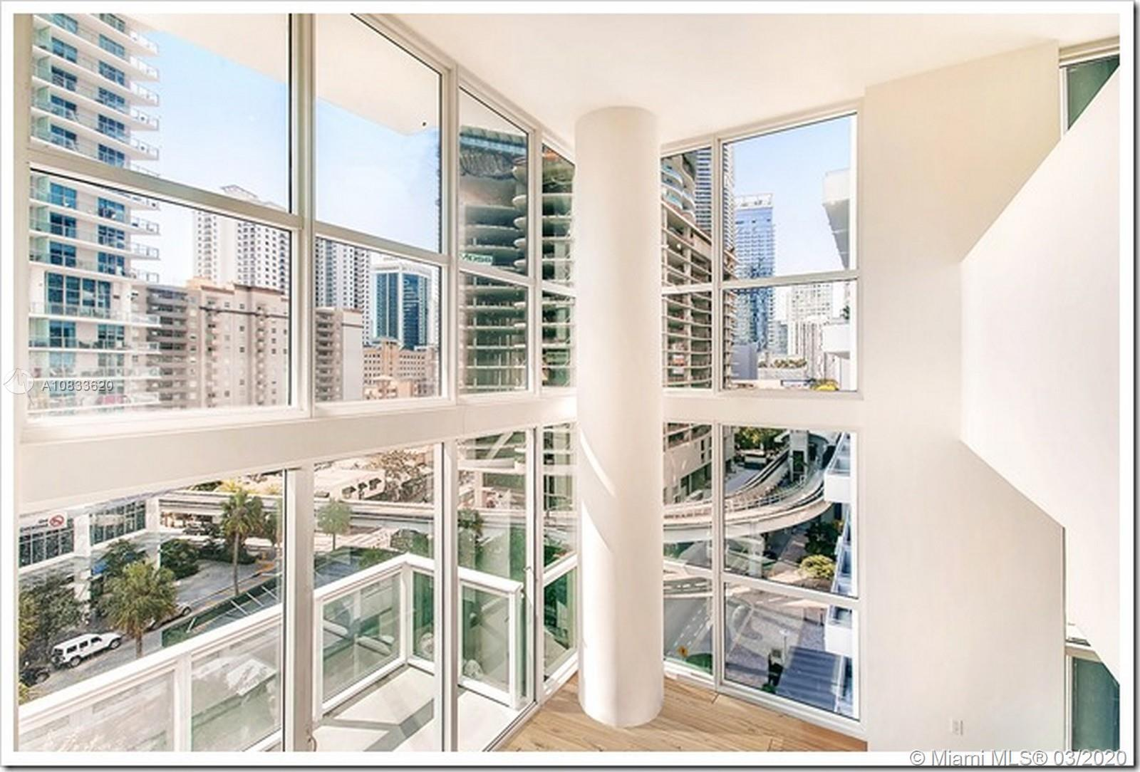 Great opportunity to own a spectacular 2 story unit at The Bond Brickell. Very bright and spacious (