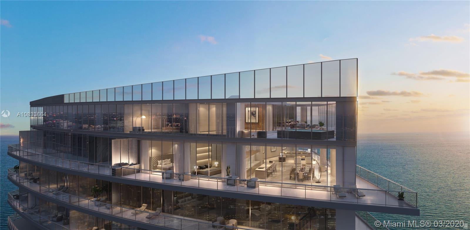 WOW! AMAZING CORNER DUPLEX PENTHOUSE IN THE LUXURIOUS RESIDENCES BY ARMANI/CASA. OVER 12 FOOT CEILIN