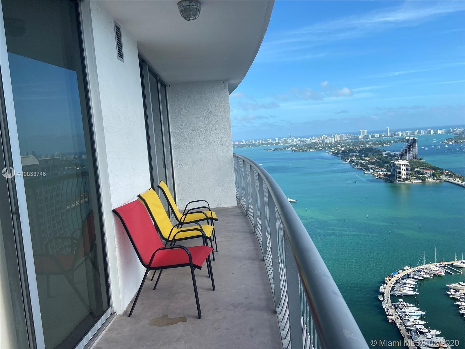 Amazing views from this spacious 1 bed/1 bath at Opera Tower. carpet in the bedroom. Stainless steel