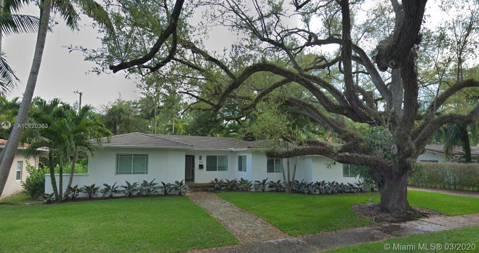 Updated home in desirable South Gables location. 3 bedrooms and 3 bathrooms on a lush 10,000 SF lot.