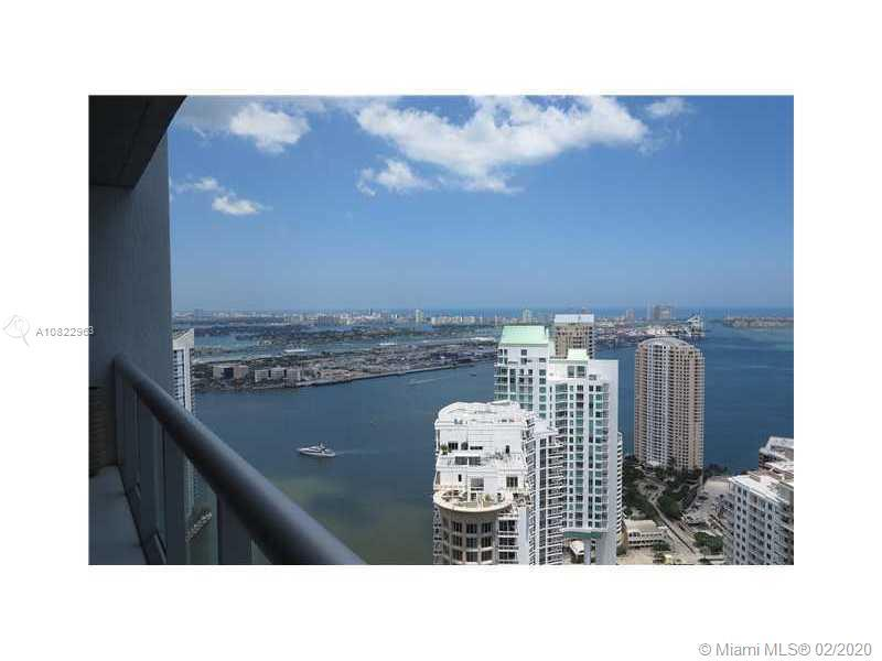 THE BEST VIEW FROM BRICKELL, FACING BRICKELL KEY, KEY BISCAYNE, AND PORT OF MIAMI FROM THE 50TH FLOO