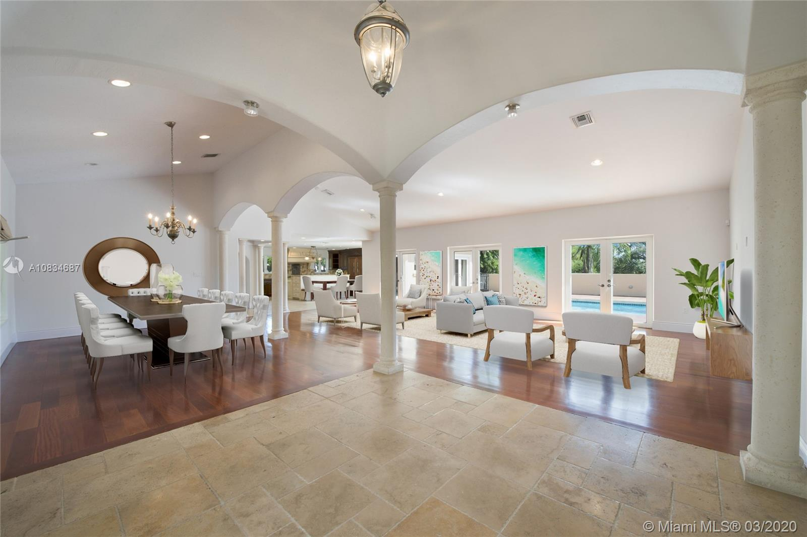 New addition-SF now LA 4,751, ADJ 5,381, ACTUAL 6,373. Walled + gated for privacy, the home offers a