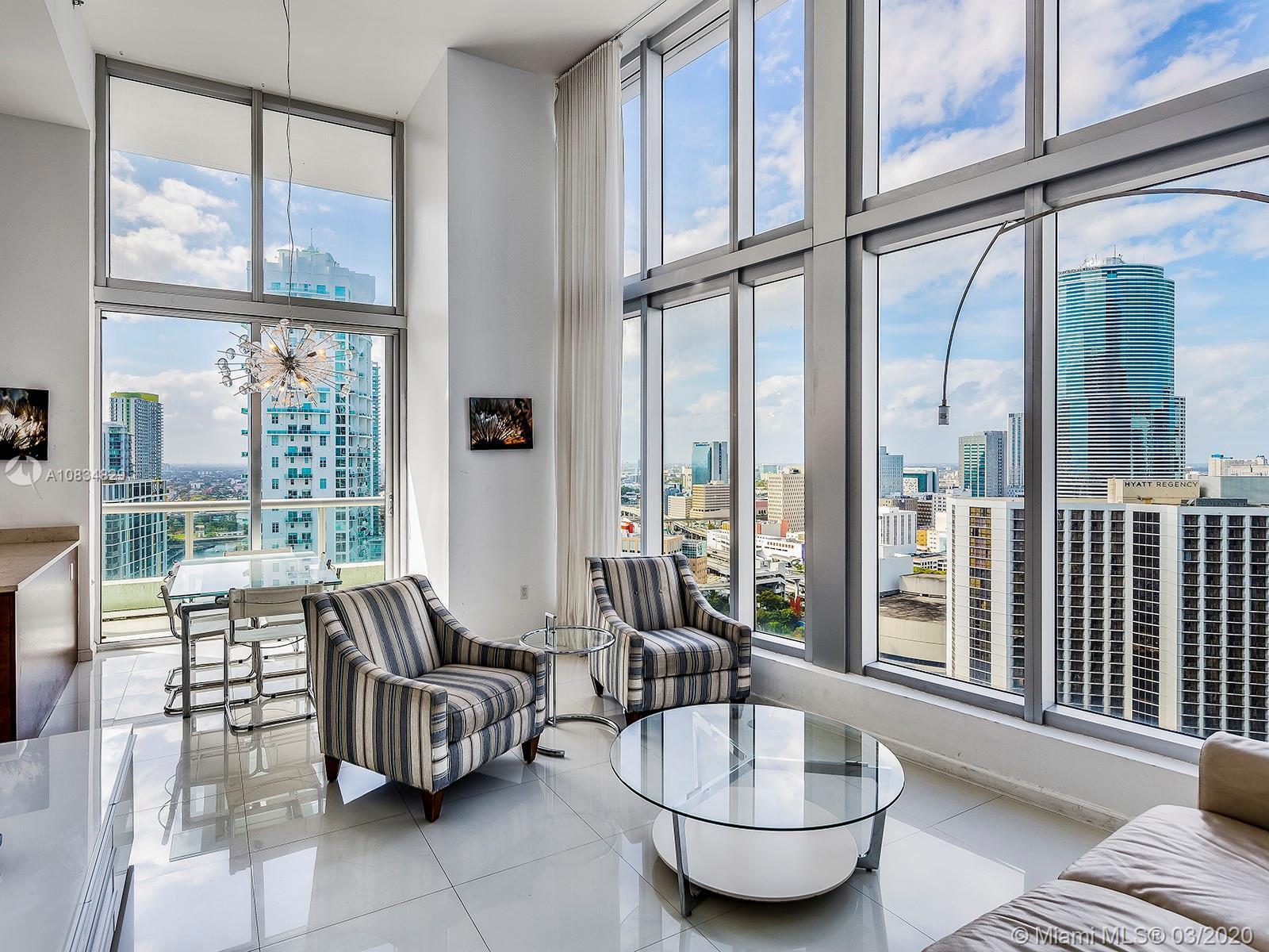 In the heart of Miami City, best location in ICON BRICKELL. Corner 2Br / 2 Ba unit in the desired li