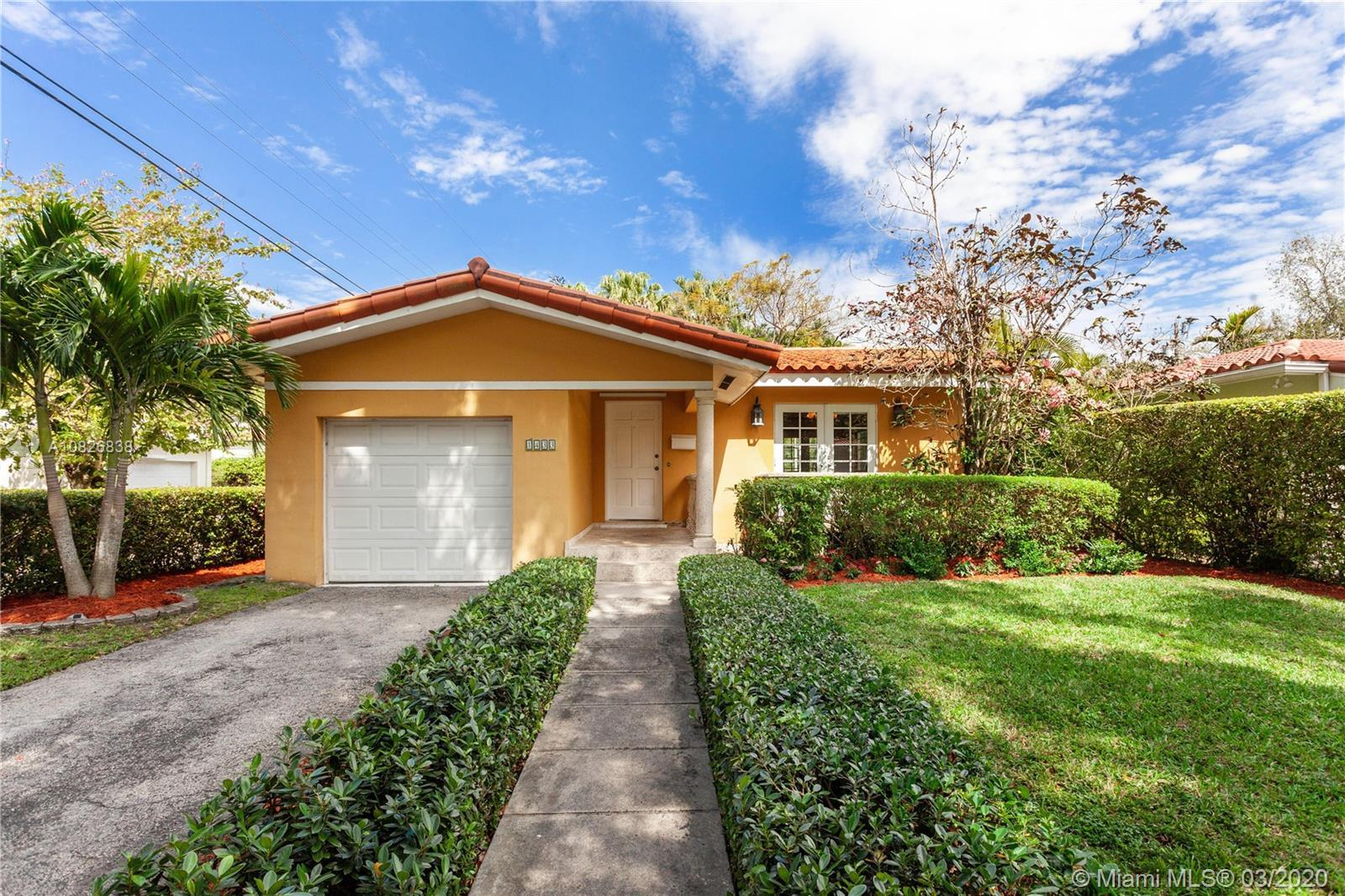 Charming 3Bed/2Bath home on a peaceful, tree-lined street.  Updates include impact glass, garage imp