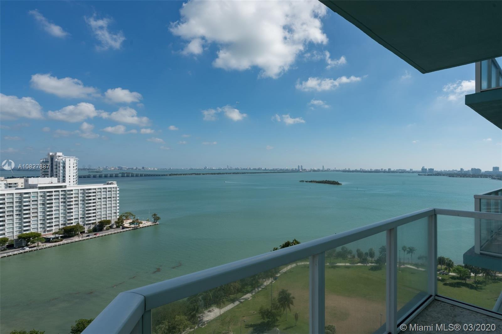 Incredible 3 Bed / 3 Bath unit on the 19th floor at sought after Quantum on the Bay. Corner unit wit