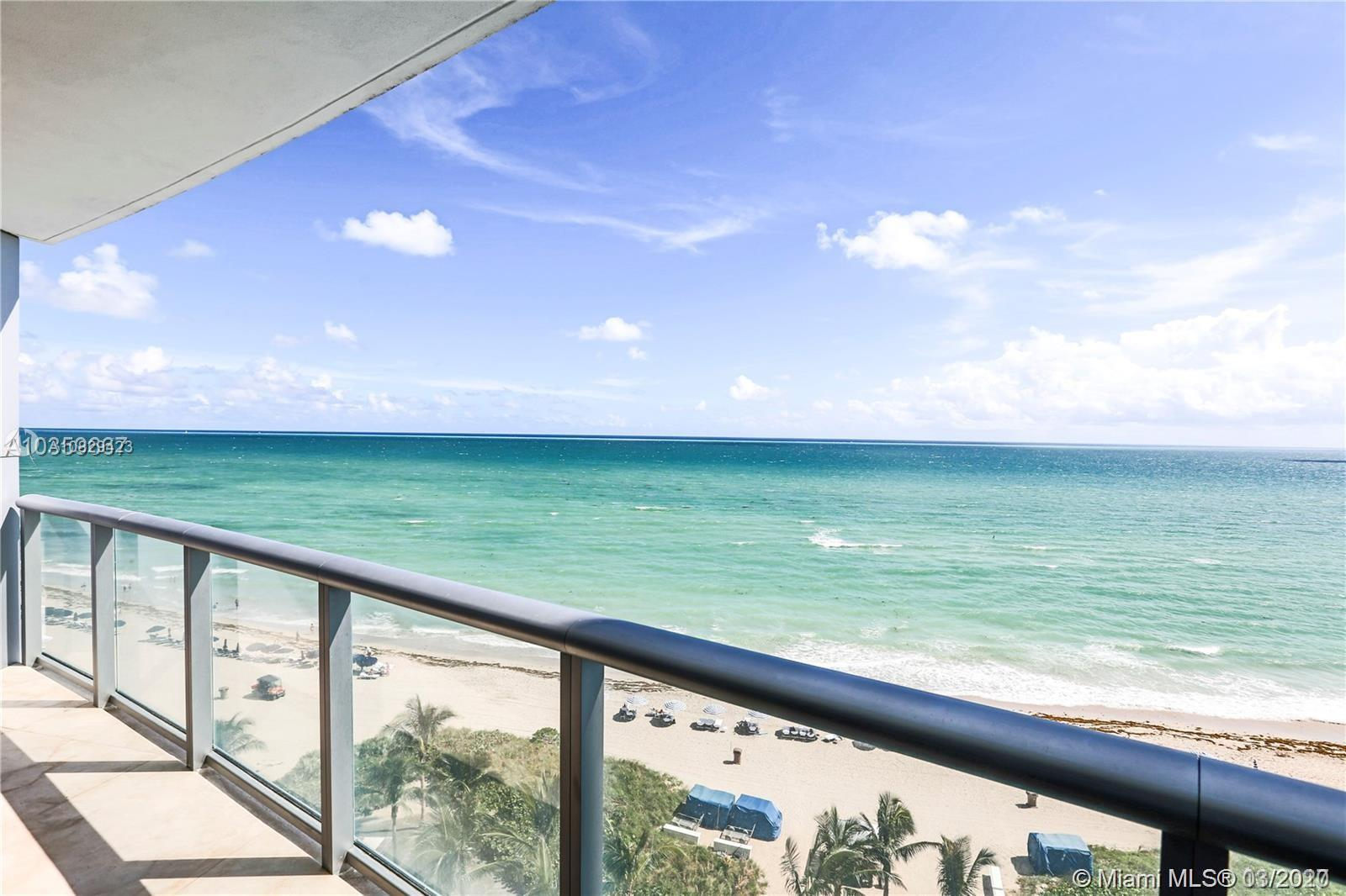 Most desirable line 3/3.5 Stunning Ocean view at Jade Beach, Fully Furnished unit with great floor p