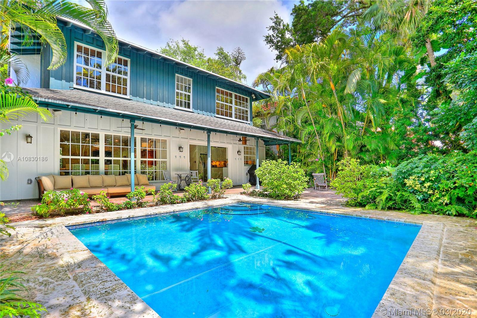 Welcome to this tropical home located in the desirable South Coconut Grove neighborhood. This very p
