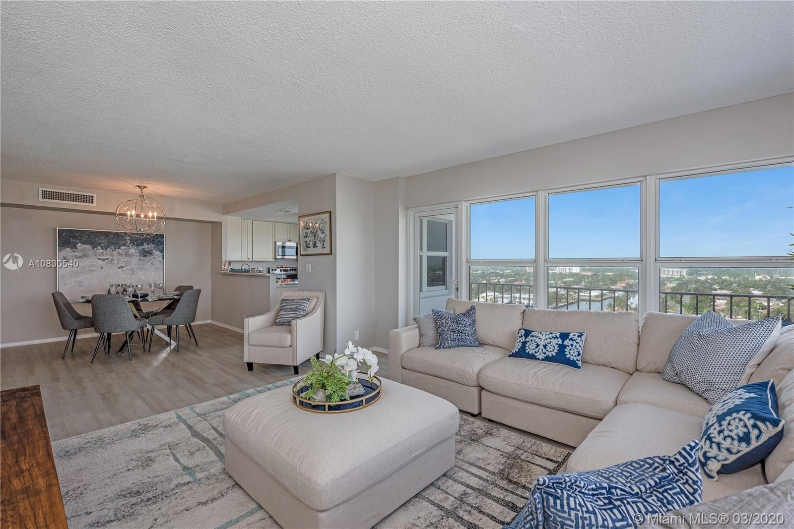 Sunlit, updated amazing corner unit with Intracoastal views, move-in ready. Enjoy your large balcony