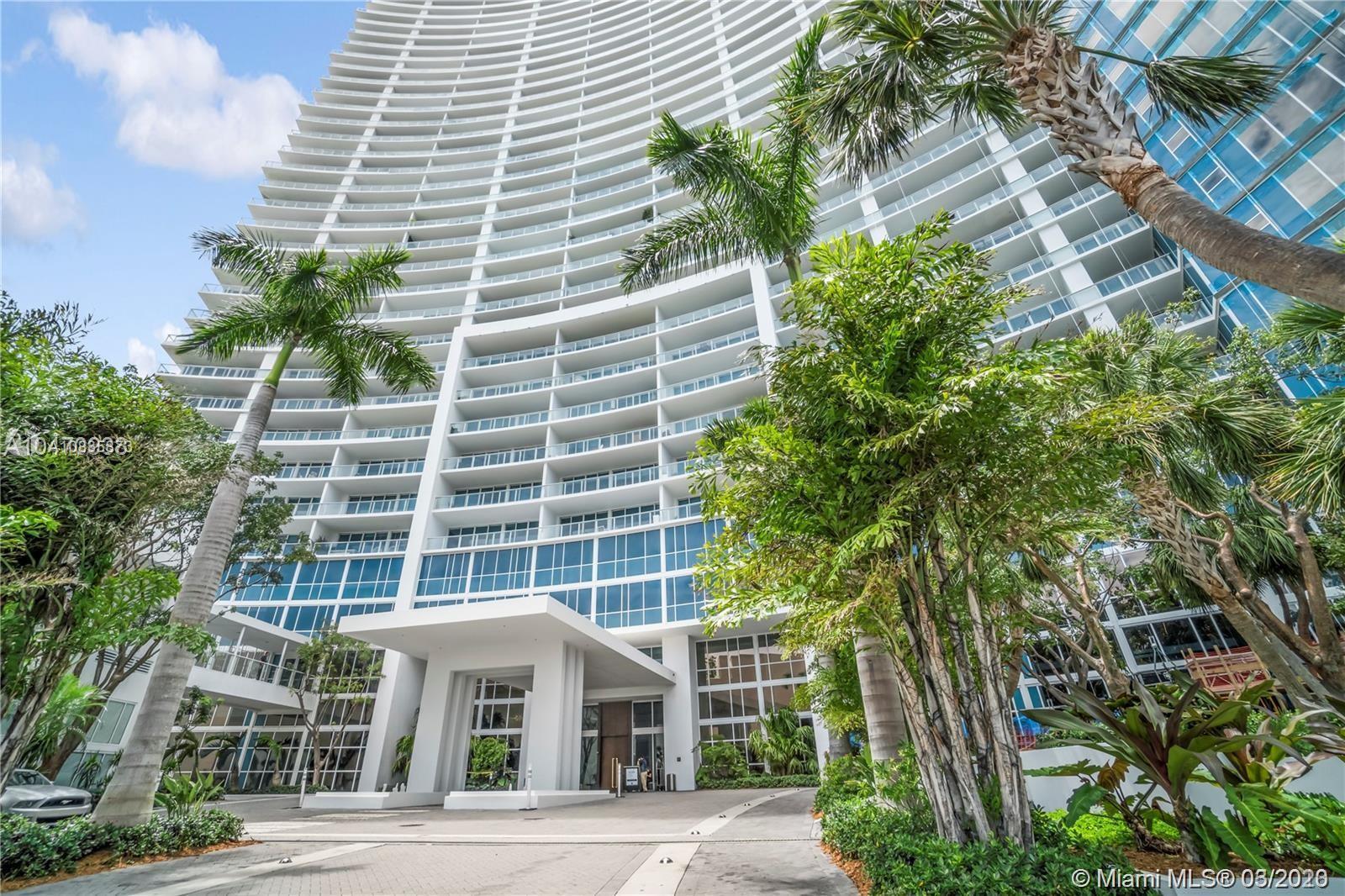 Breathtaking bayfront high luxury condominium. Semi private elevator, private foyer, 1 bedroom + den