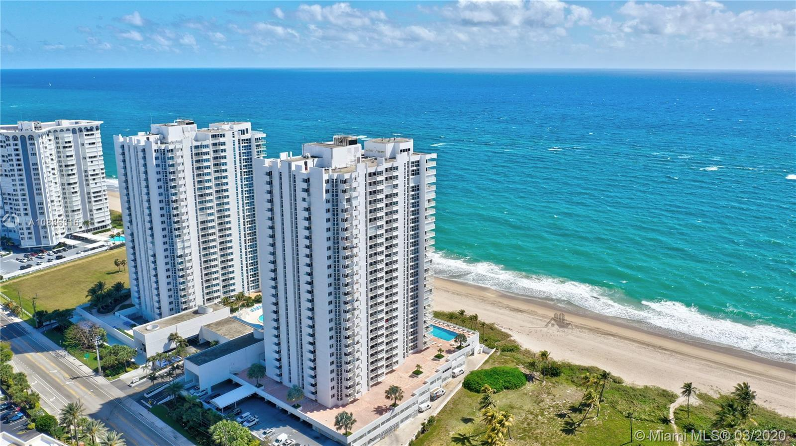VIRTUAL SHOWINGS ONLY UNTIL FURTHER NOTICE.  A rarely available high floor Direct Oceanfront Reside