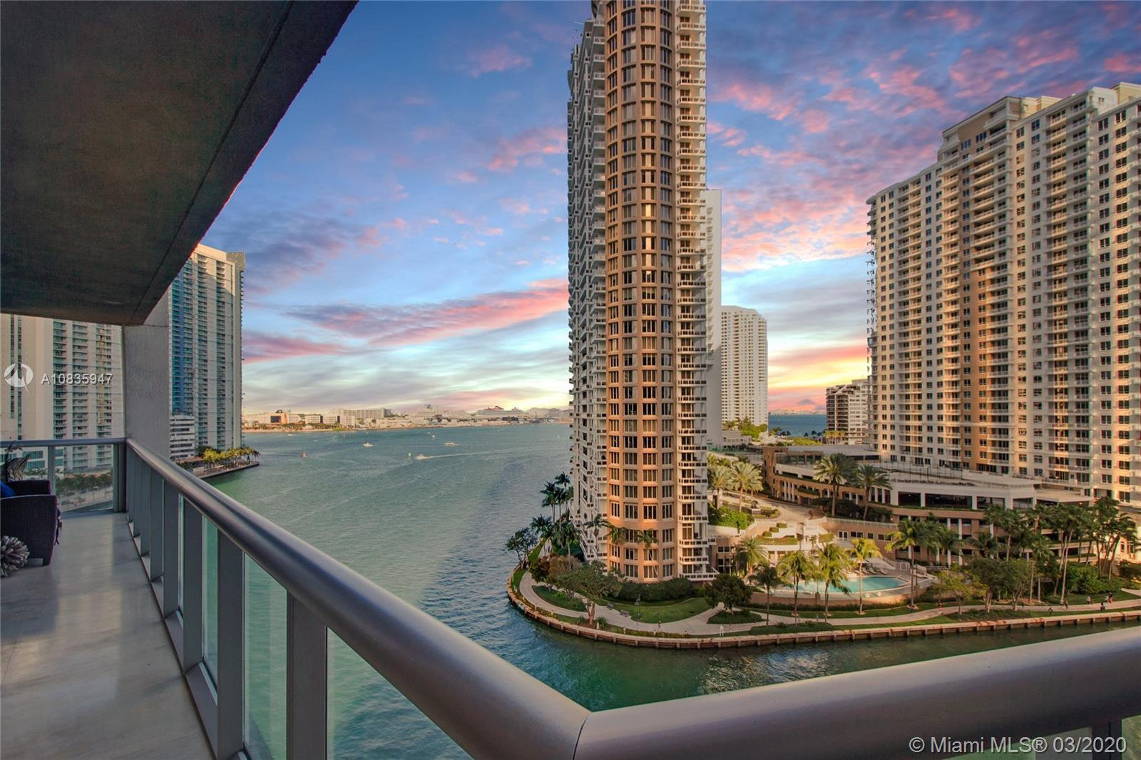 COMPLETELY UPGRADED 3 BED CORNER BAY UNIT AT ICON BRICKELL. UNIT SITS DIRECTLY OVER THE MIAMI RIVER