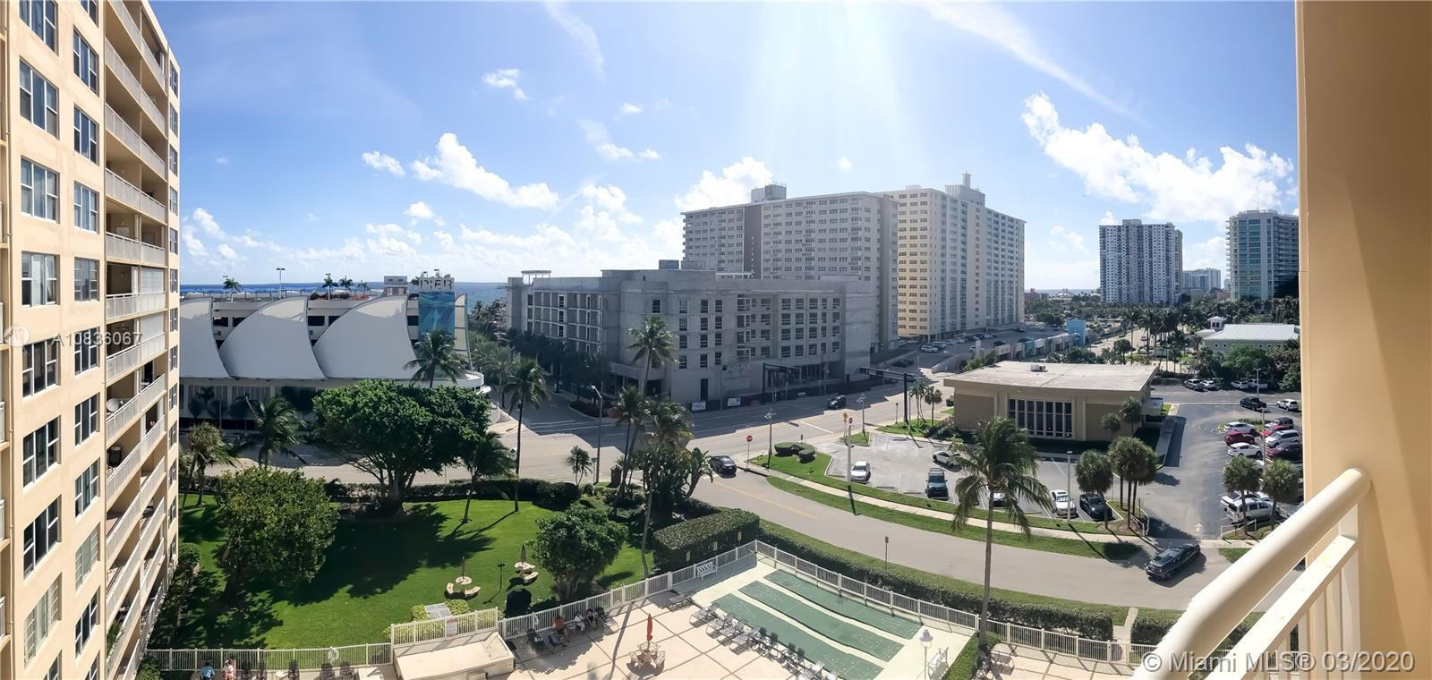 GREAT OCEAN AND INTRACOASTAL VIEWS FROM THIS BEAUTIFUL AND SPACIOUS 1 BEDROOM 1 BATH UNIT WITH LOTS