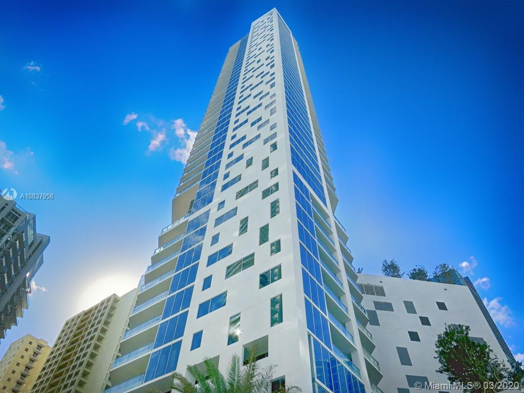 1BR with tile floors. Balcony from living room and bedroom. Corner unit with windows on two sides. P