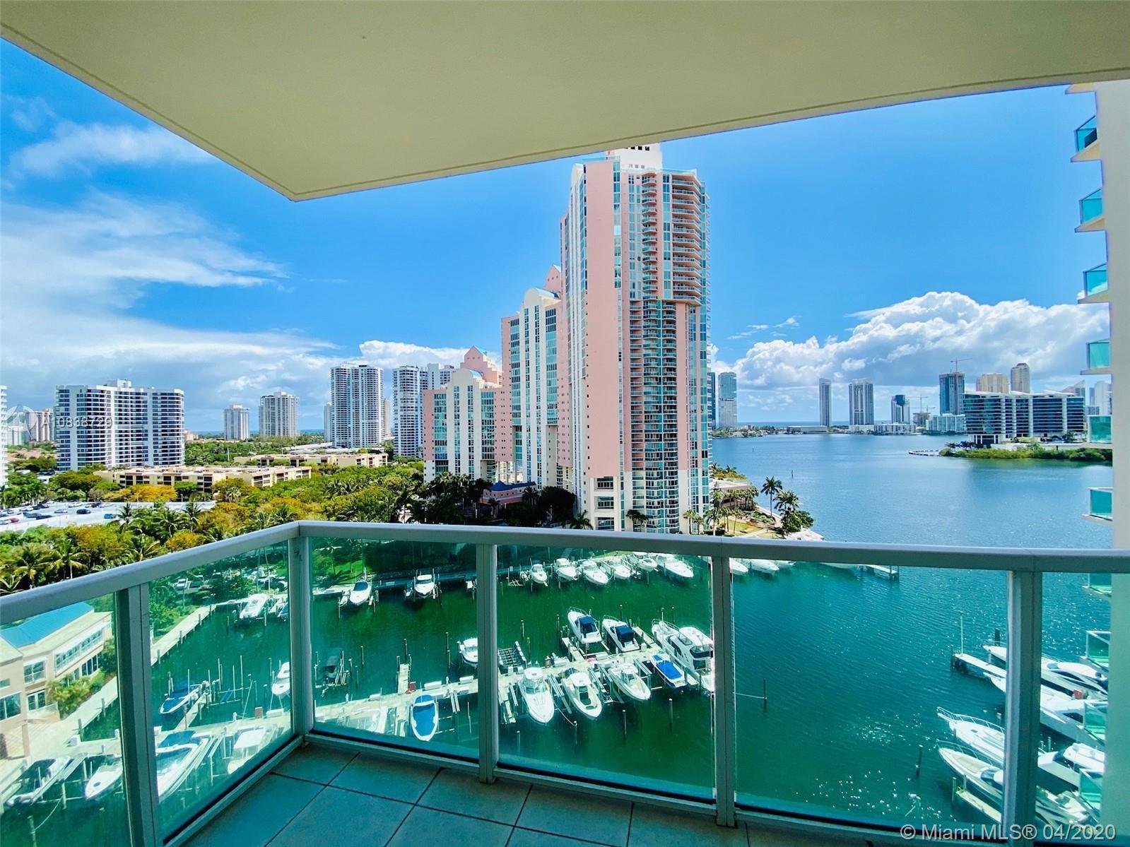 Aventura Marina 1 bright corner unit with stunning water views of bay, intracoastal and ocean. Large