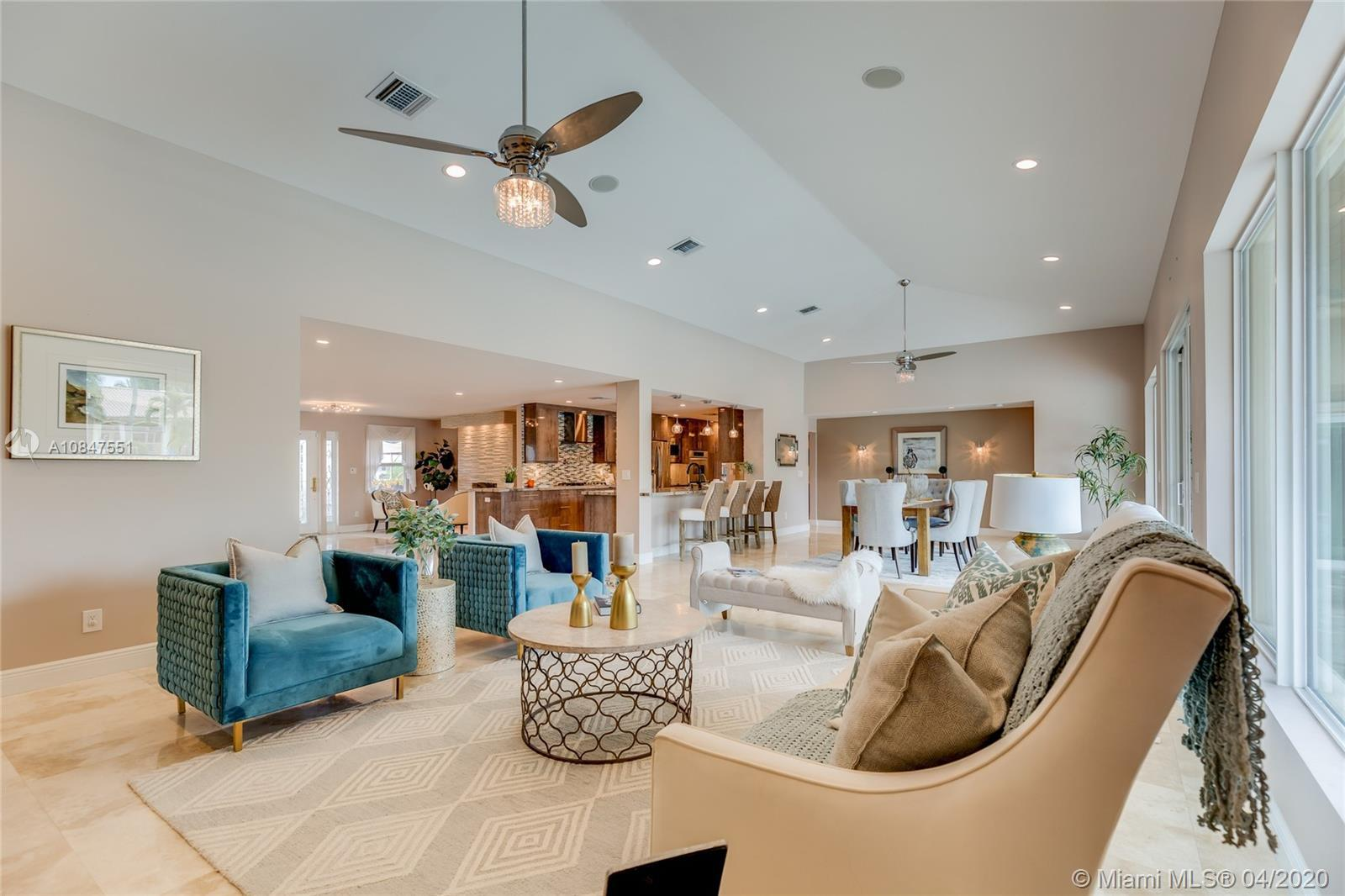 Best waterfront value in gated prestigious Riviera Isles! This beautiful home features a split floor