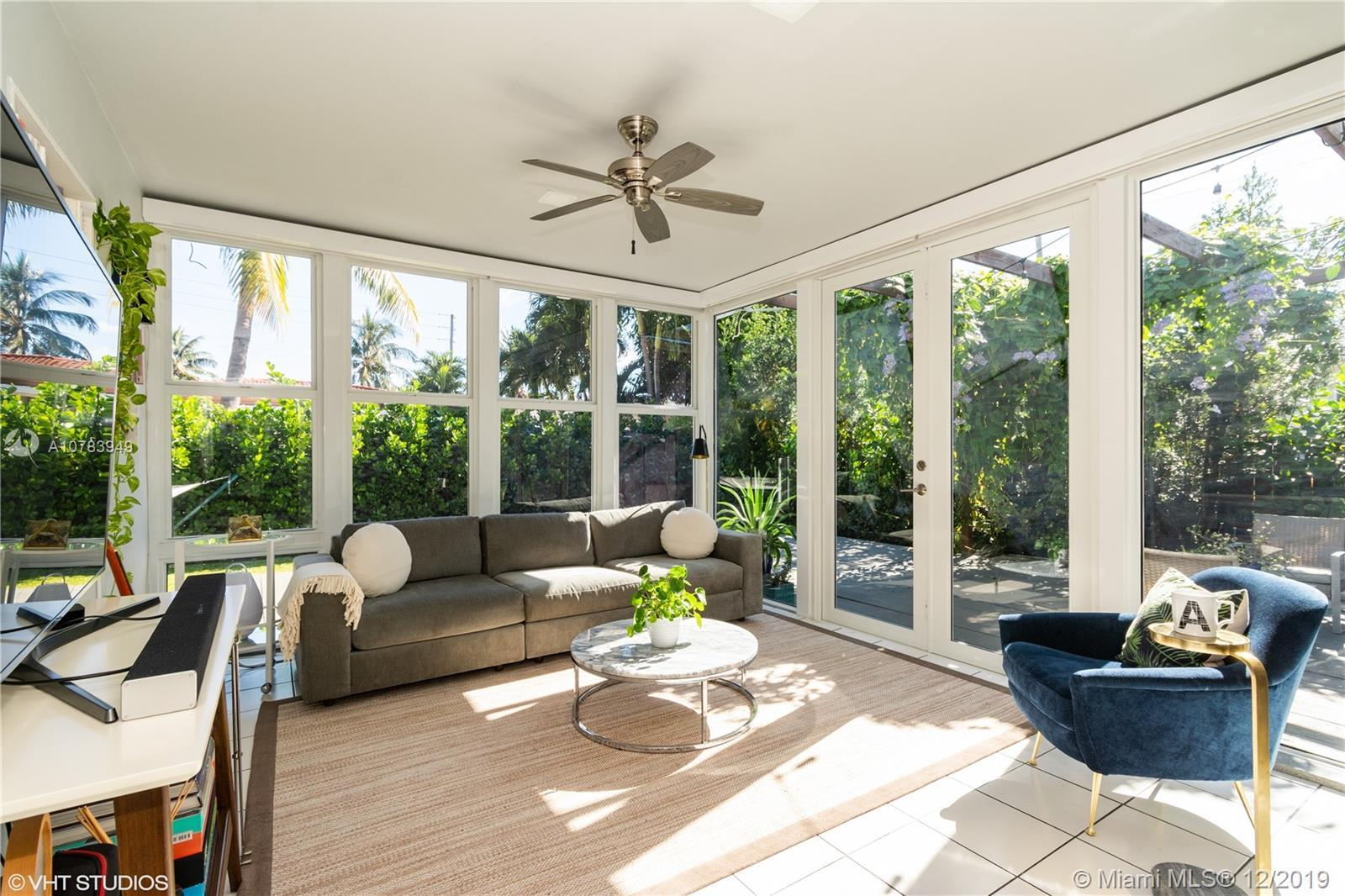 Walk to the beach from this fabulous bright + sunlit Classic 1950s (MeMo) 3 bedroom / 2.25 bath spli