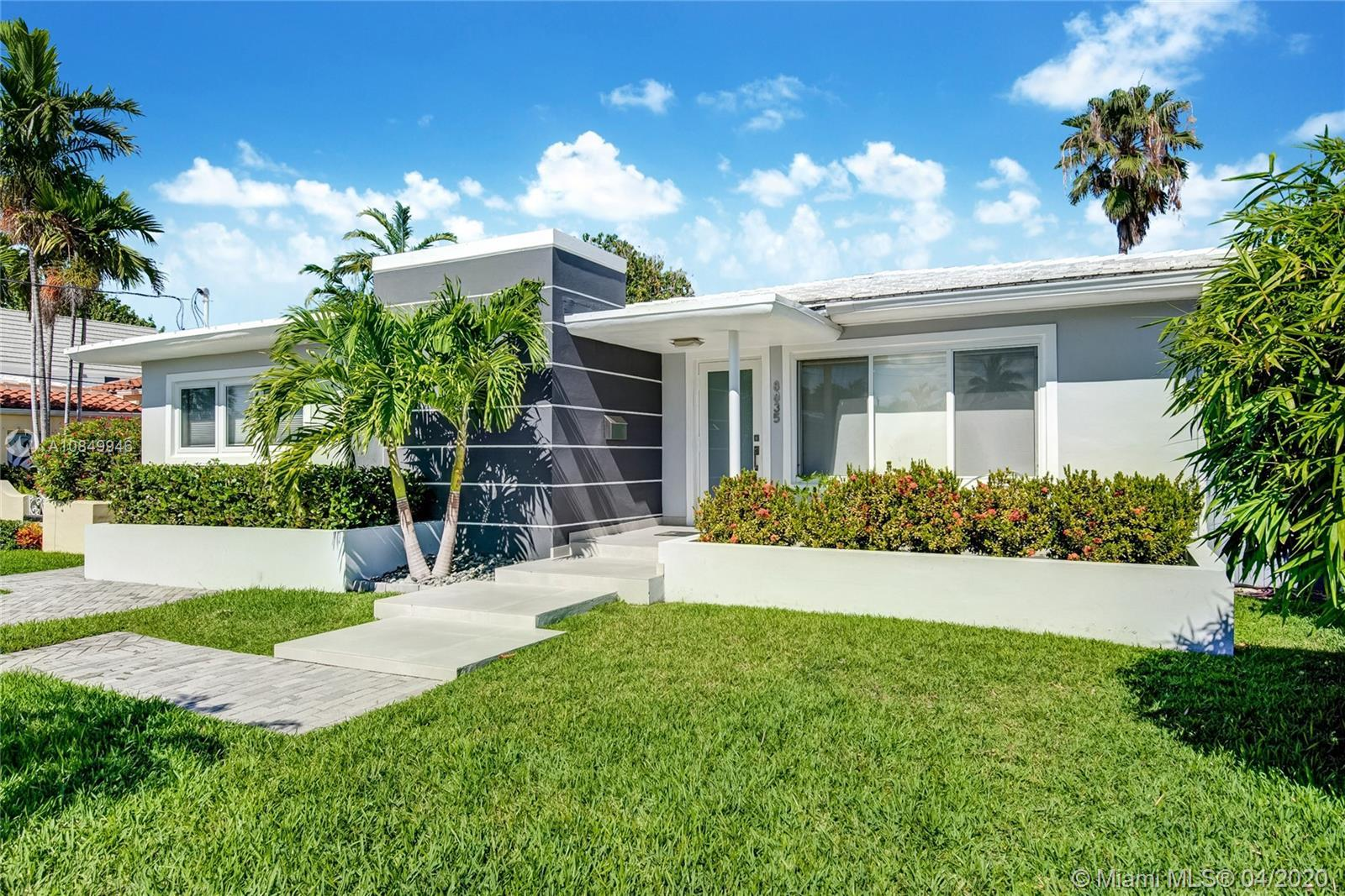 Stylish and modern renovated house in Surfside! The house has an open floor plan with lots of natura