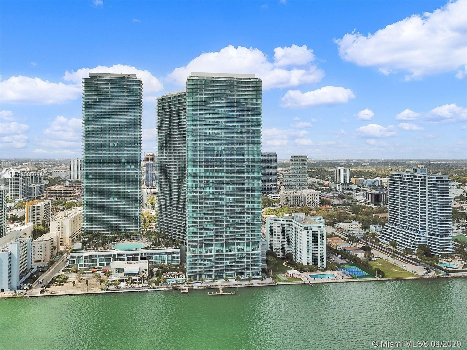Stunning 2-bed/2-bath unit with private elevator and foyer. Finished with top-of-the-line white cala