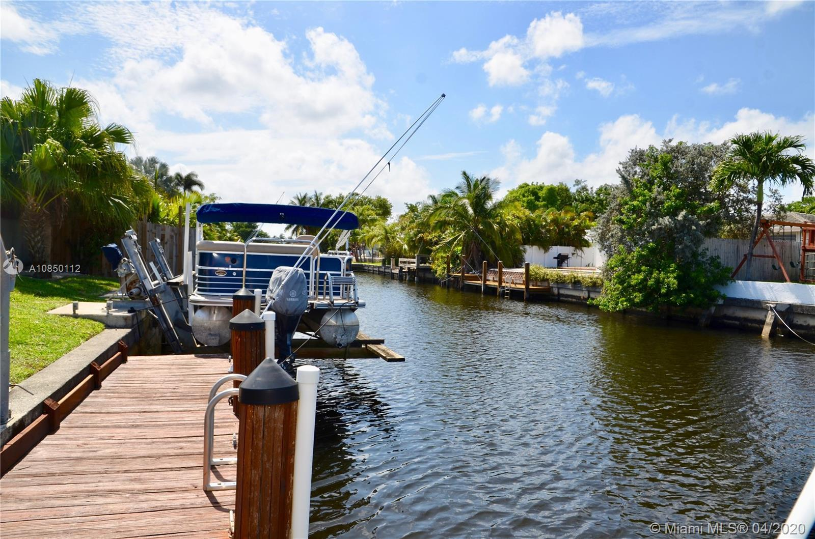 New on the market, a boaters dream house in Fort Lauderdale's Waterways! This 4 bedroom, 2 bathrooms