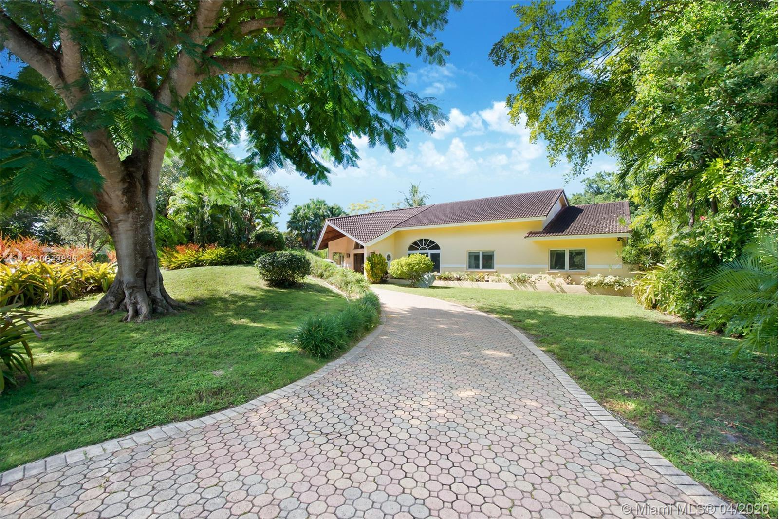 Best opportunity in Pinecrest's most sought after areas! Contemporary 5 Bed/ 4 Bath home nestled on