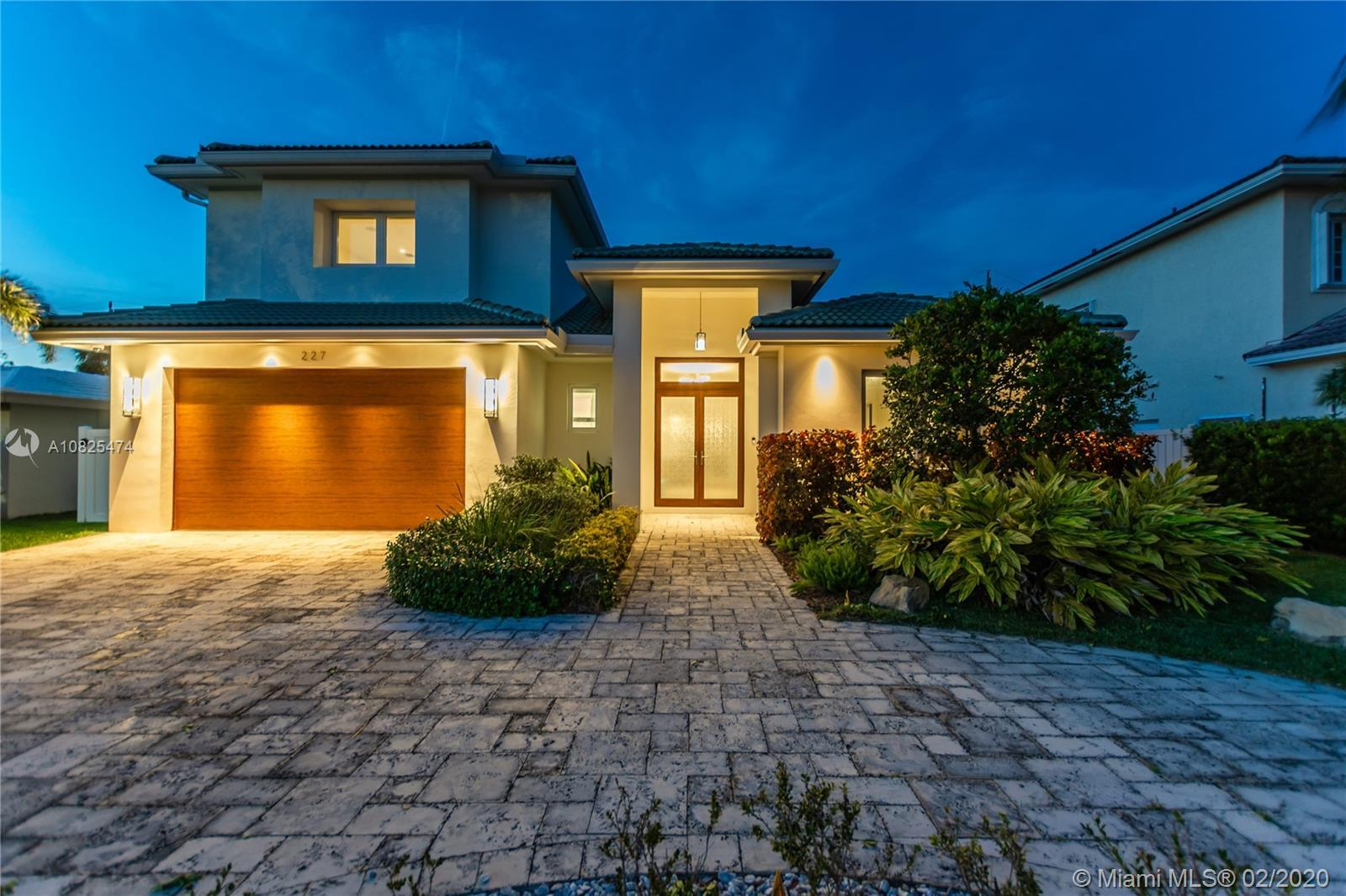 Welcome to this custom built (2017) semi- contemporary style home in Lauderdale By The Sea. Only a f