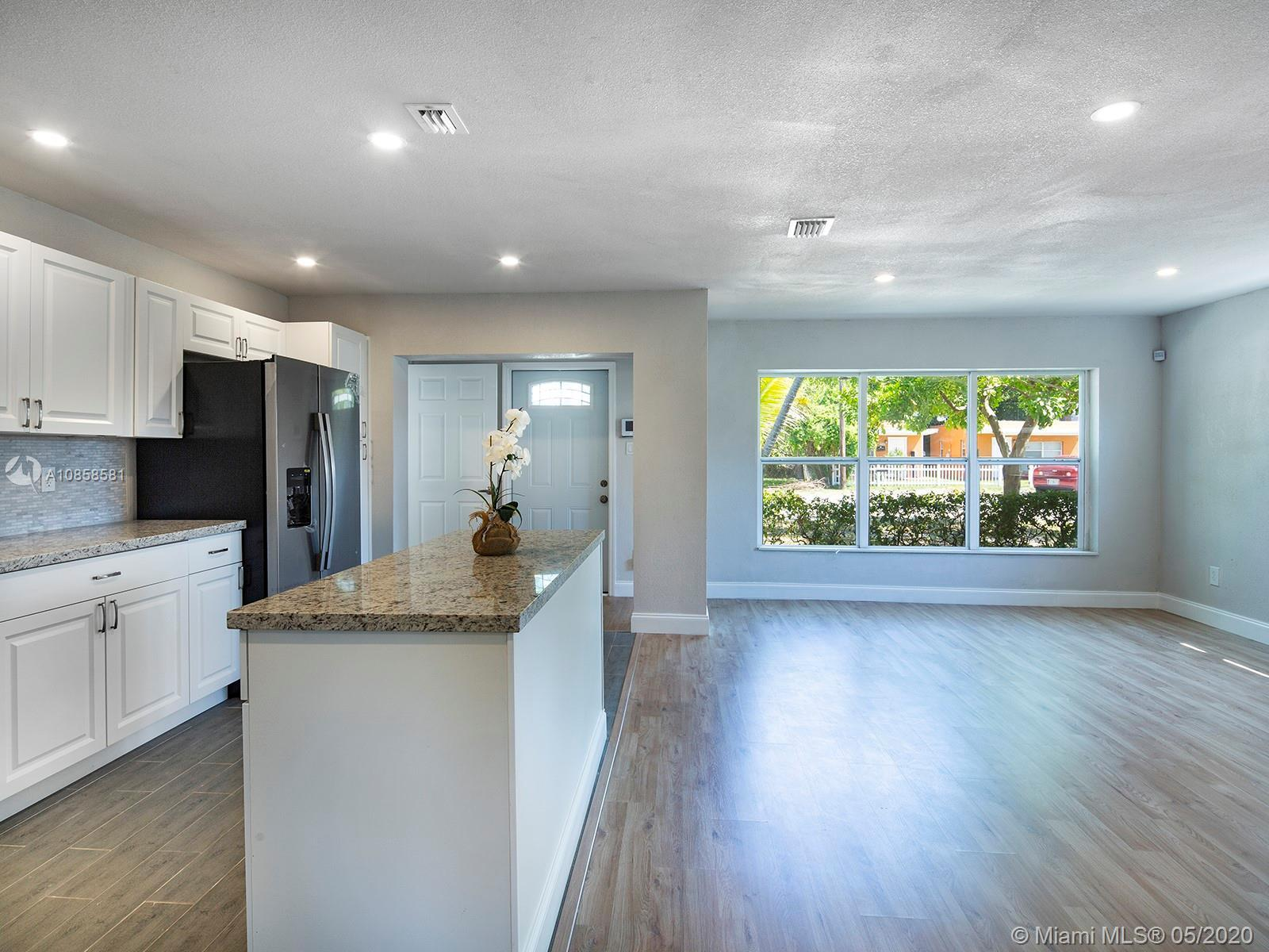 Freshly painted and completely renovated 3 bedroom 2 bath home. The house has a white kitchen with g