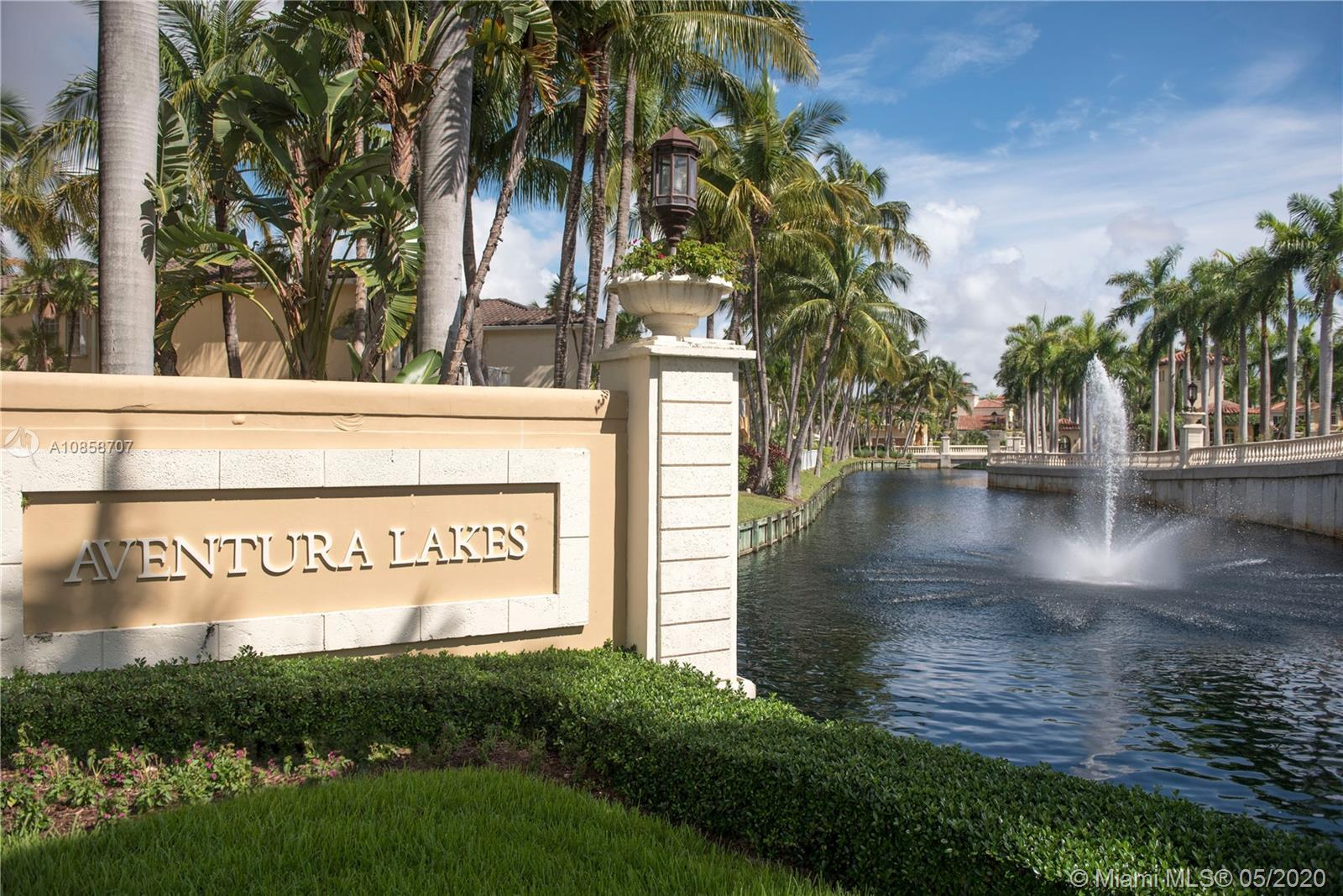 Community of single family homes gated in the City of Aventura. This friendly family neighborhood of