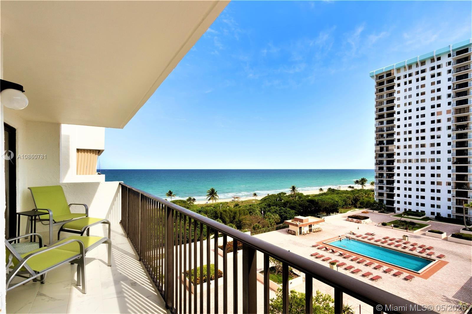 WITH SPECTACULAR OCEAN AND INTRACOSTAL VIEWS – THIS UNIT HAS 2 MASTER SUITES/2 FULL BATHS IN A SPLIT