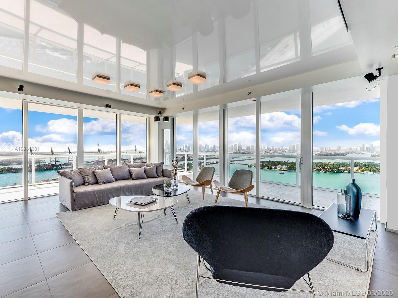 Most desirable line 01 at ICON South Beach. Professionally reconfigured to a unique 3 bedroom 3 bath