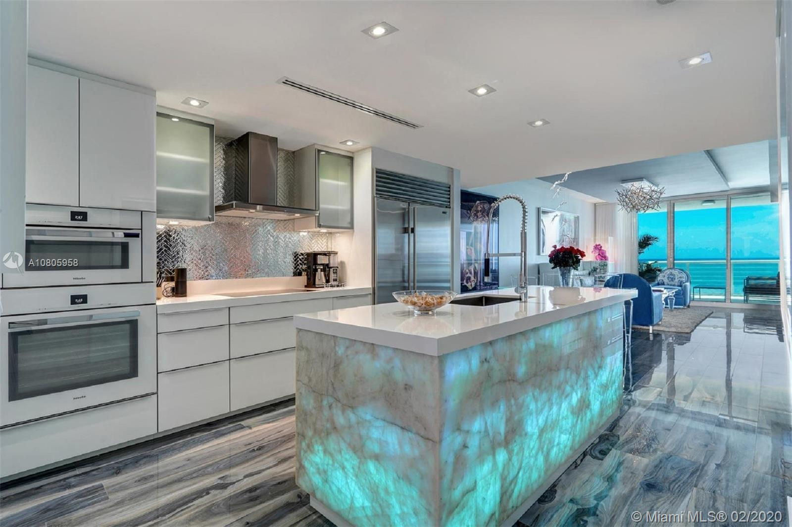 WOW! This impeccably renovated direct ocean view 2BE/2BA apartment features the best of interior des