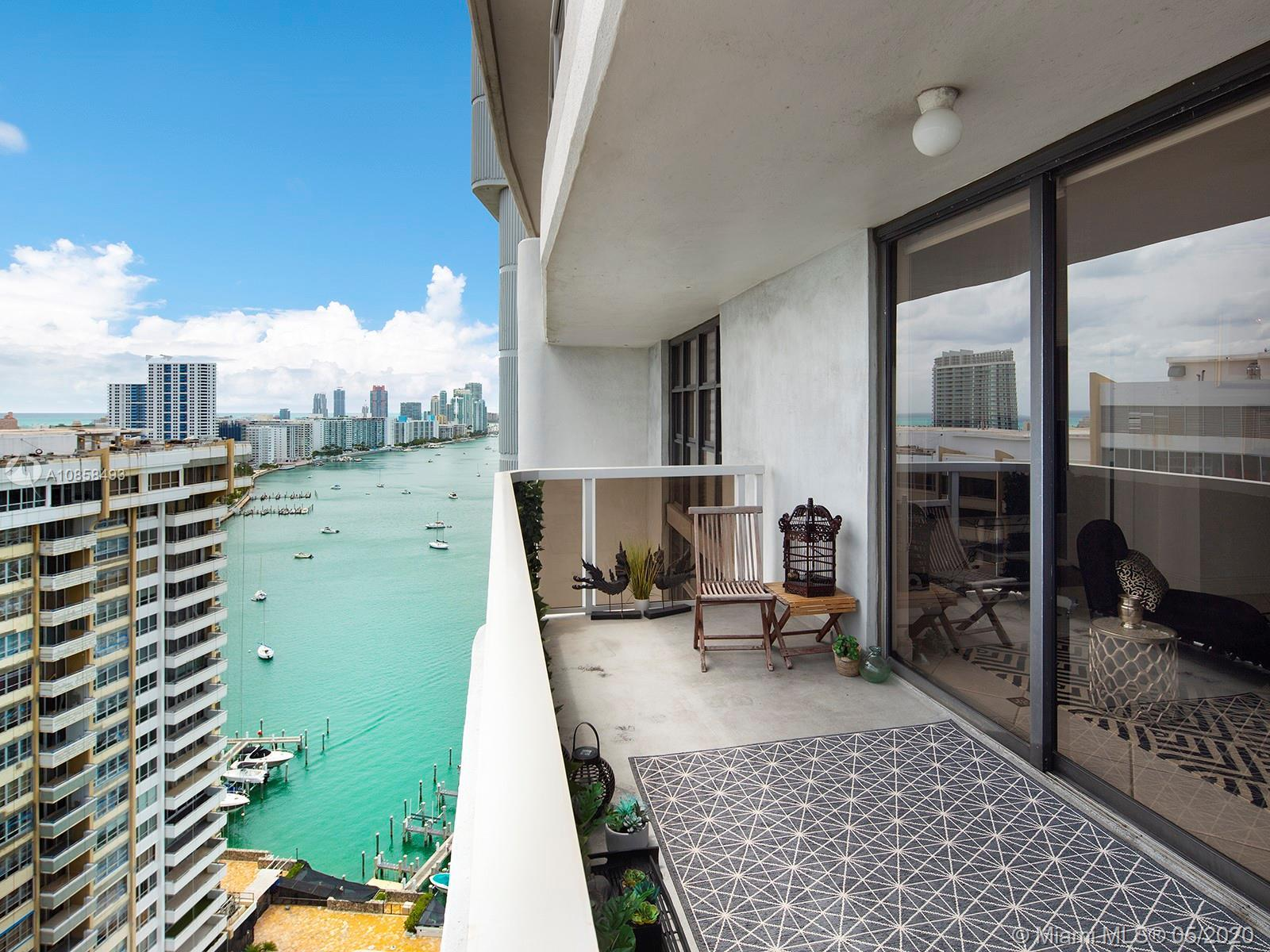 Located in one of Miami Beach's most-treasured condos, this high floor 1,190 square foot unit offers