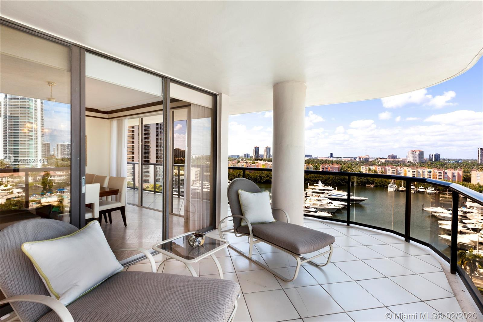 Spectacular 2B 2B E line corner unit in Turnberry Isles exclusive gated community in the heart of Av
