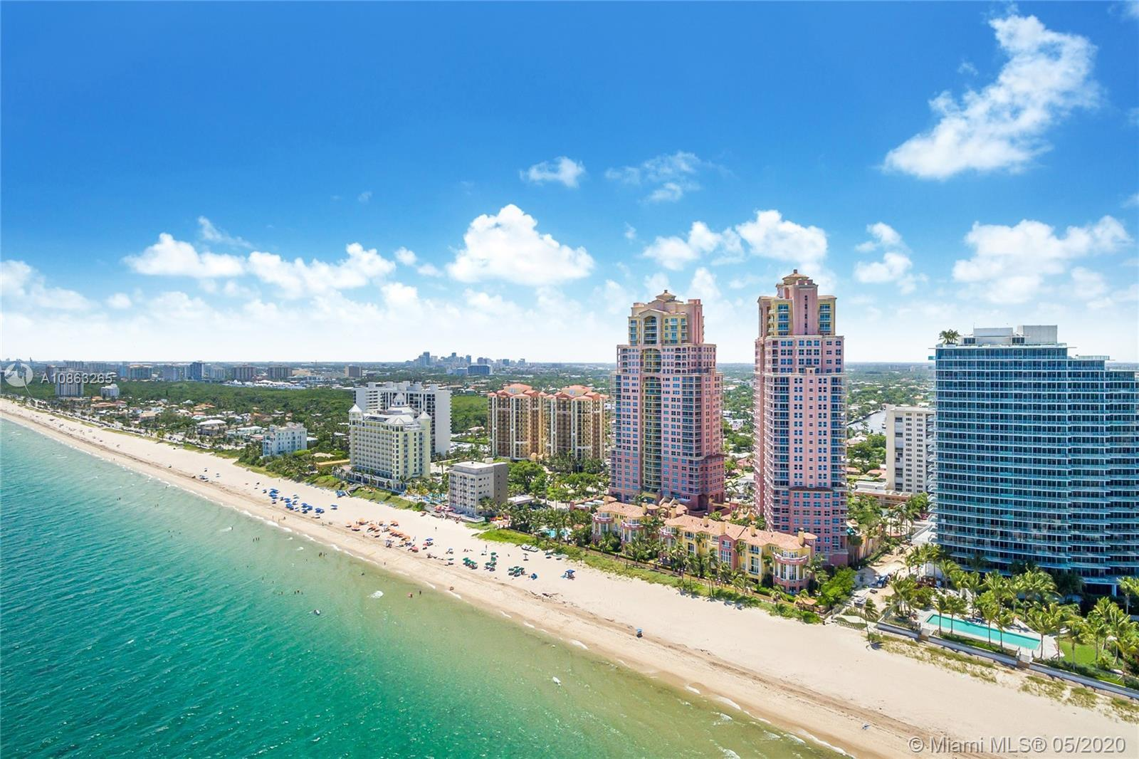 Live on the beach in this impeccably maintained Ibiza model offering skyline, Intracoastal and parti