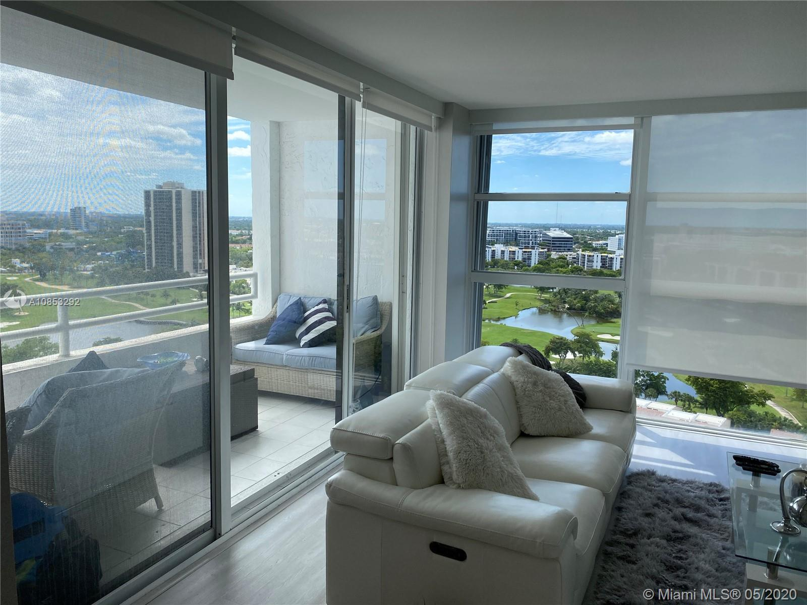 Luxury Fully Remodeled corner unit in the heart of Aventura Fl. Stunning Golf views from living room