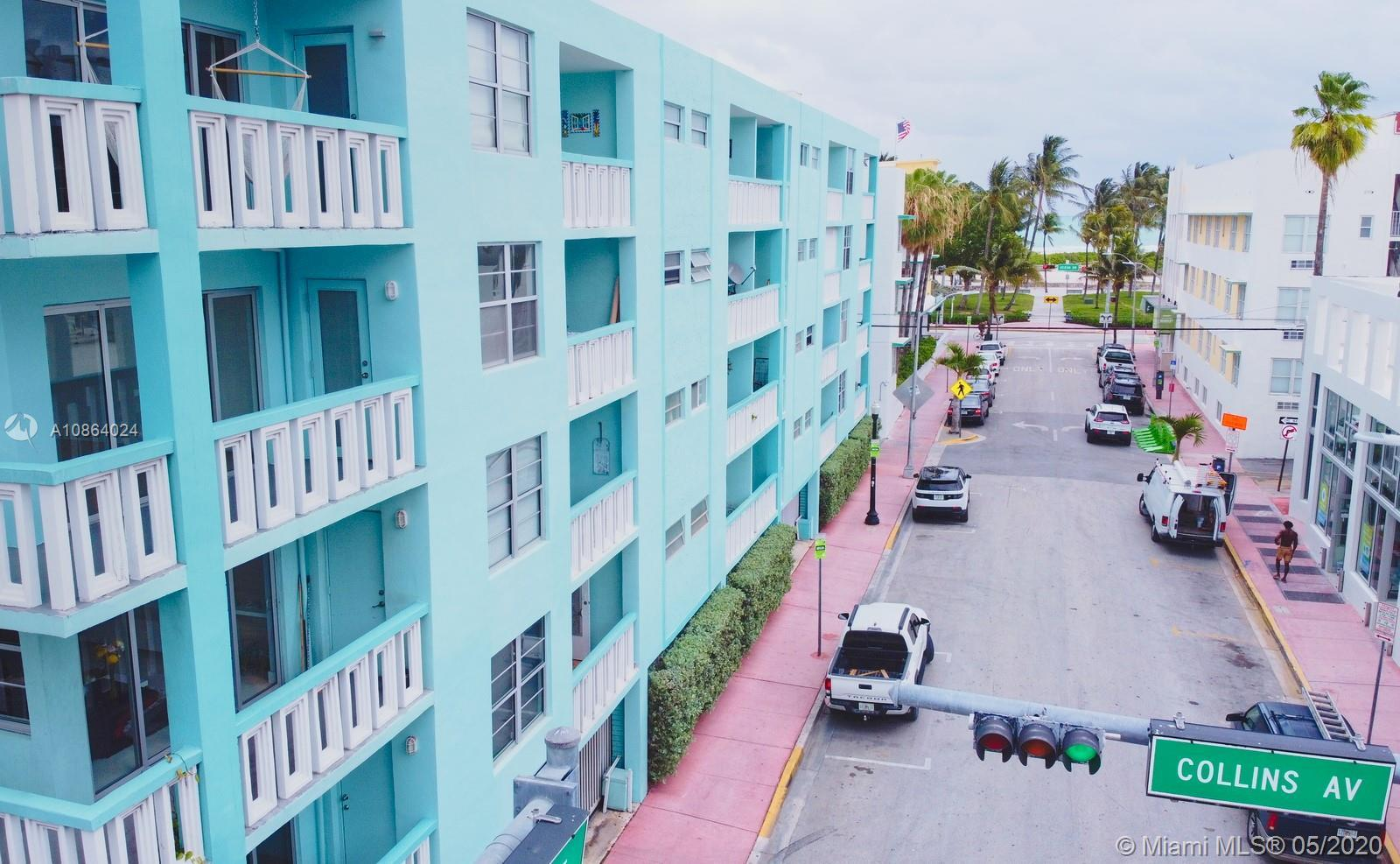Come live at the beach! One block from the sand and the clubs at Ocean Dr. South Beach! Secured par