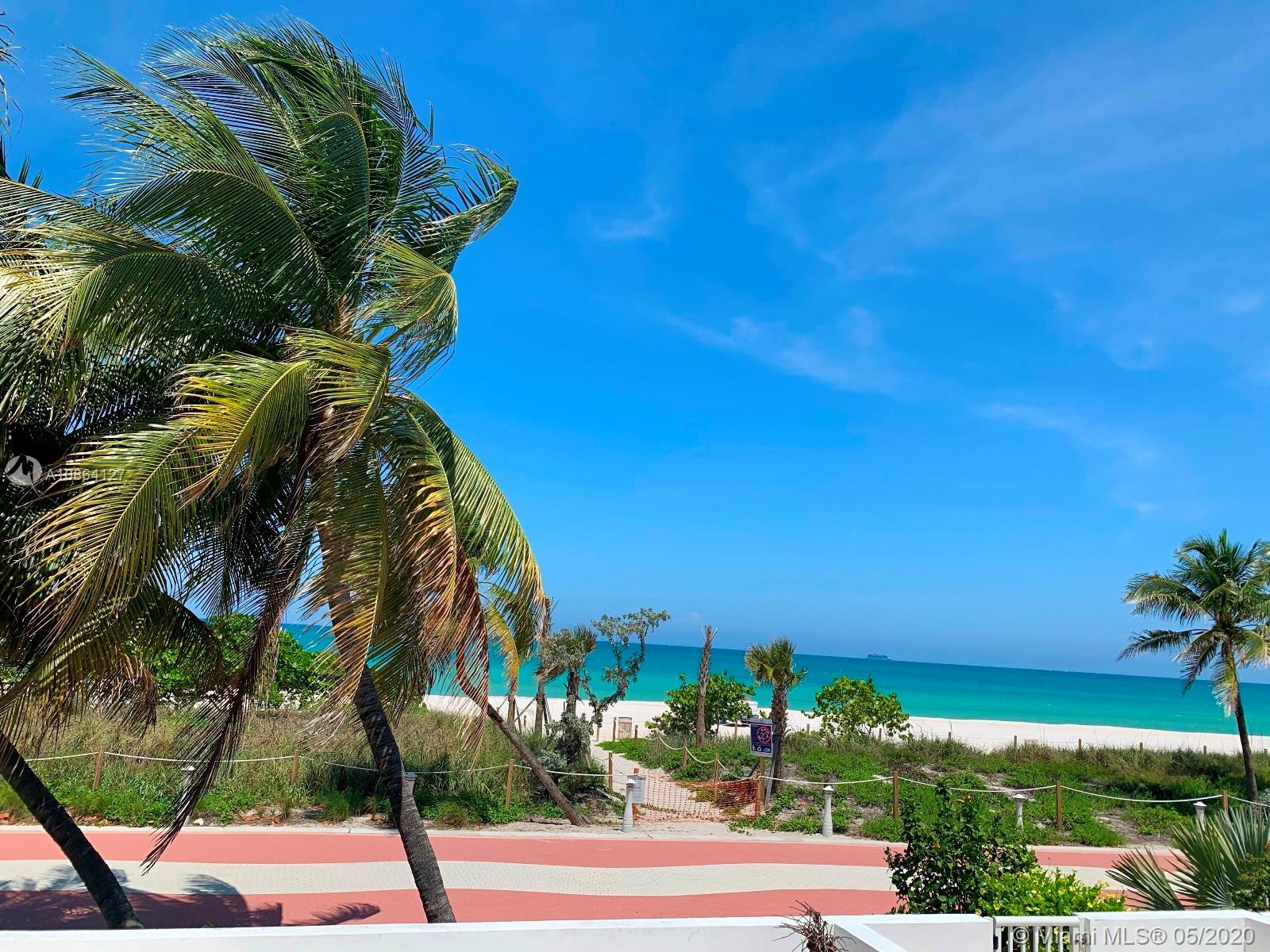 Beachfront property with private access to Miami Beach. Highly unique property—step out of your home