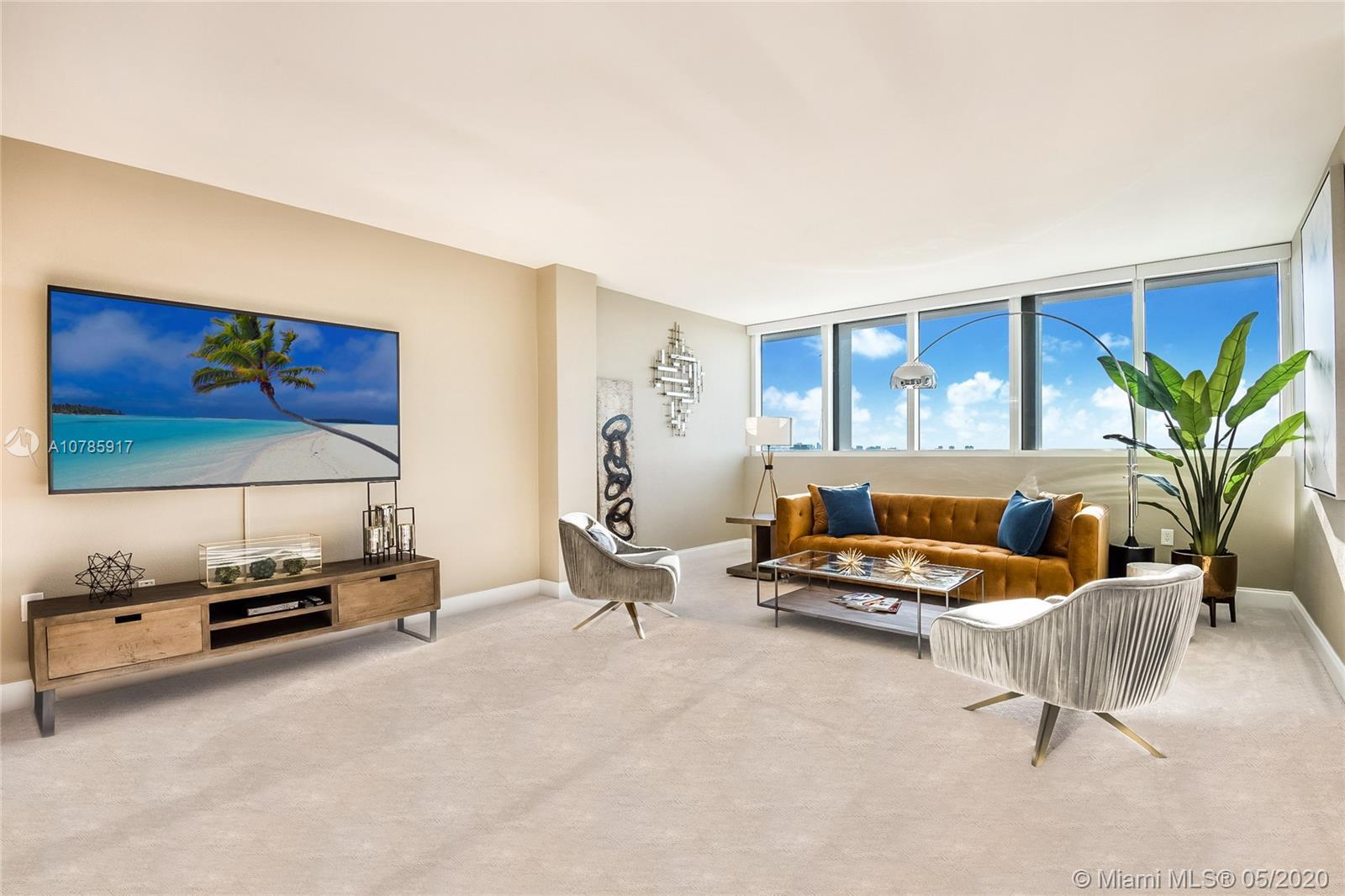 Gorgeous, newly furnished modern penthouse in full-service 5-star luxury building with views to matc