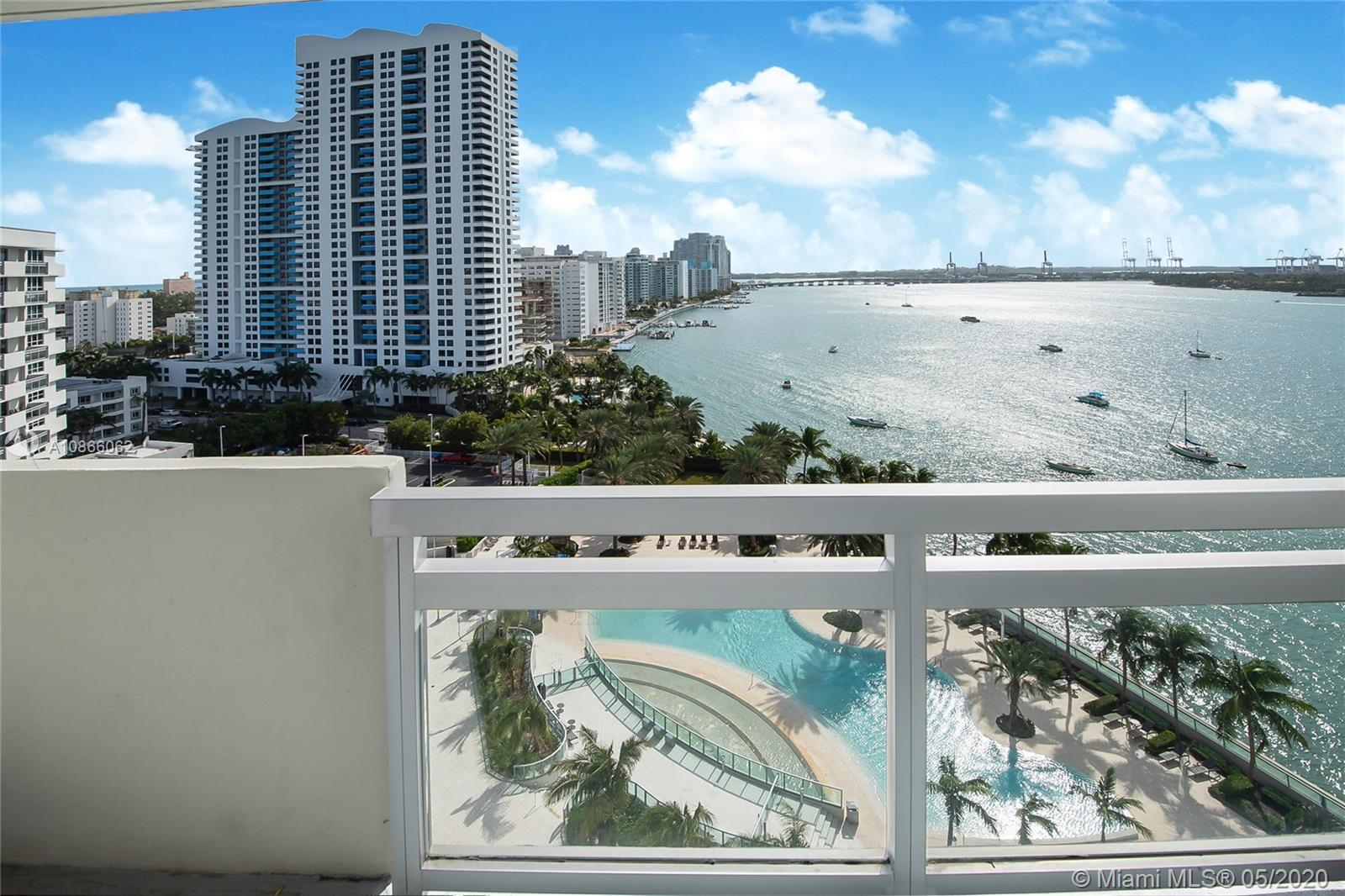 Stunning views from this incredible priced 1 bedroom unit facing the bay and south pool. Live in the