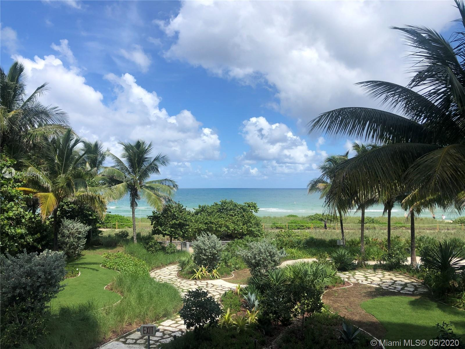 Beautiful ocean-front corner unit with private elevator lobby, wrap-around balcony. Bright and spaci