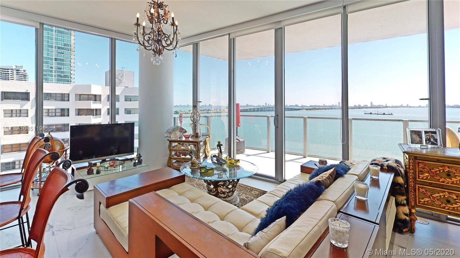 Wake up to panoramic stunning water views, located in the prestigious Biscayne Beach building in Edg